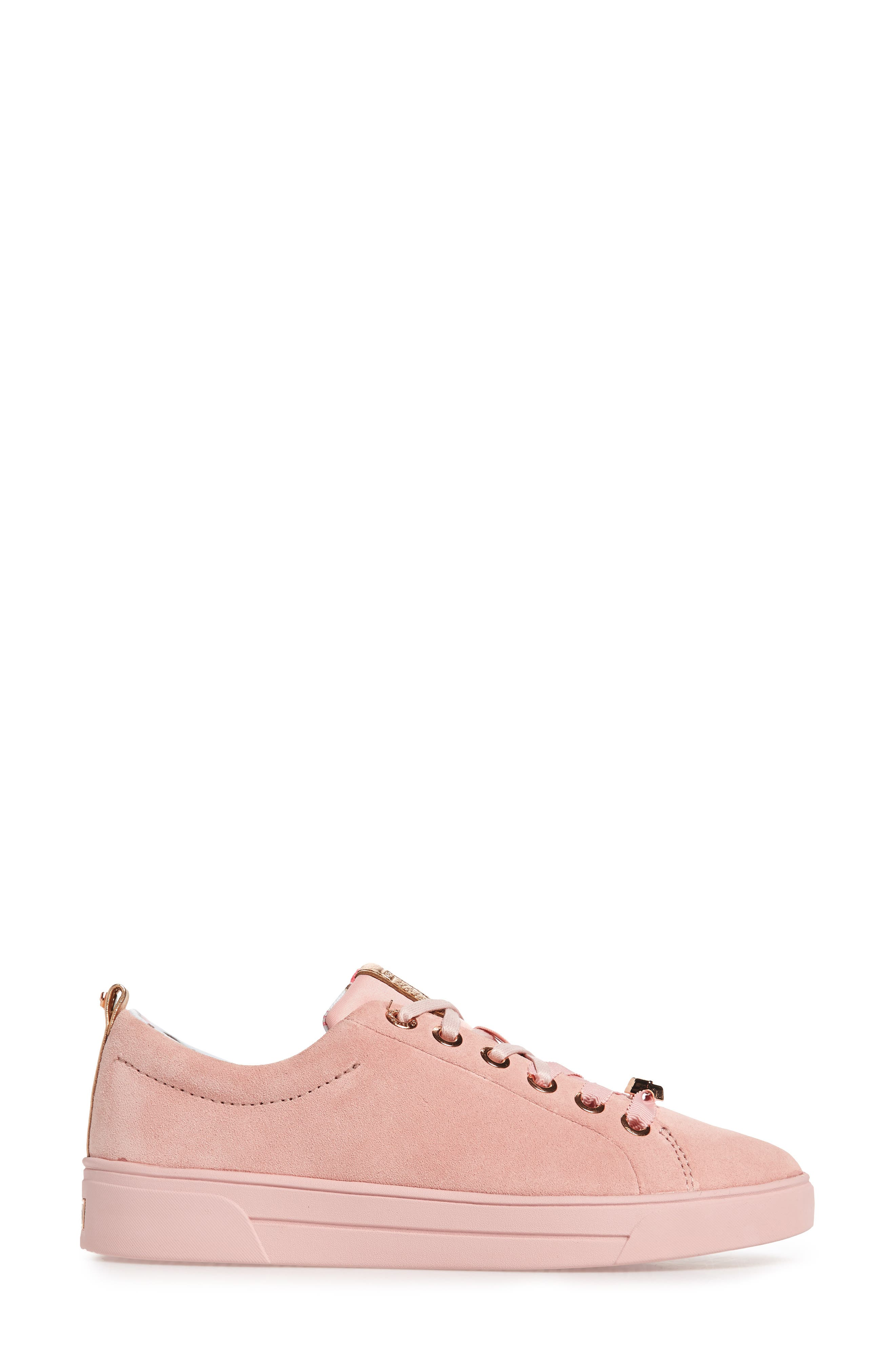Kelleip Sneaker,                             Alternate thumbnail 3, color,                             Mink Pink Suede