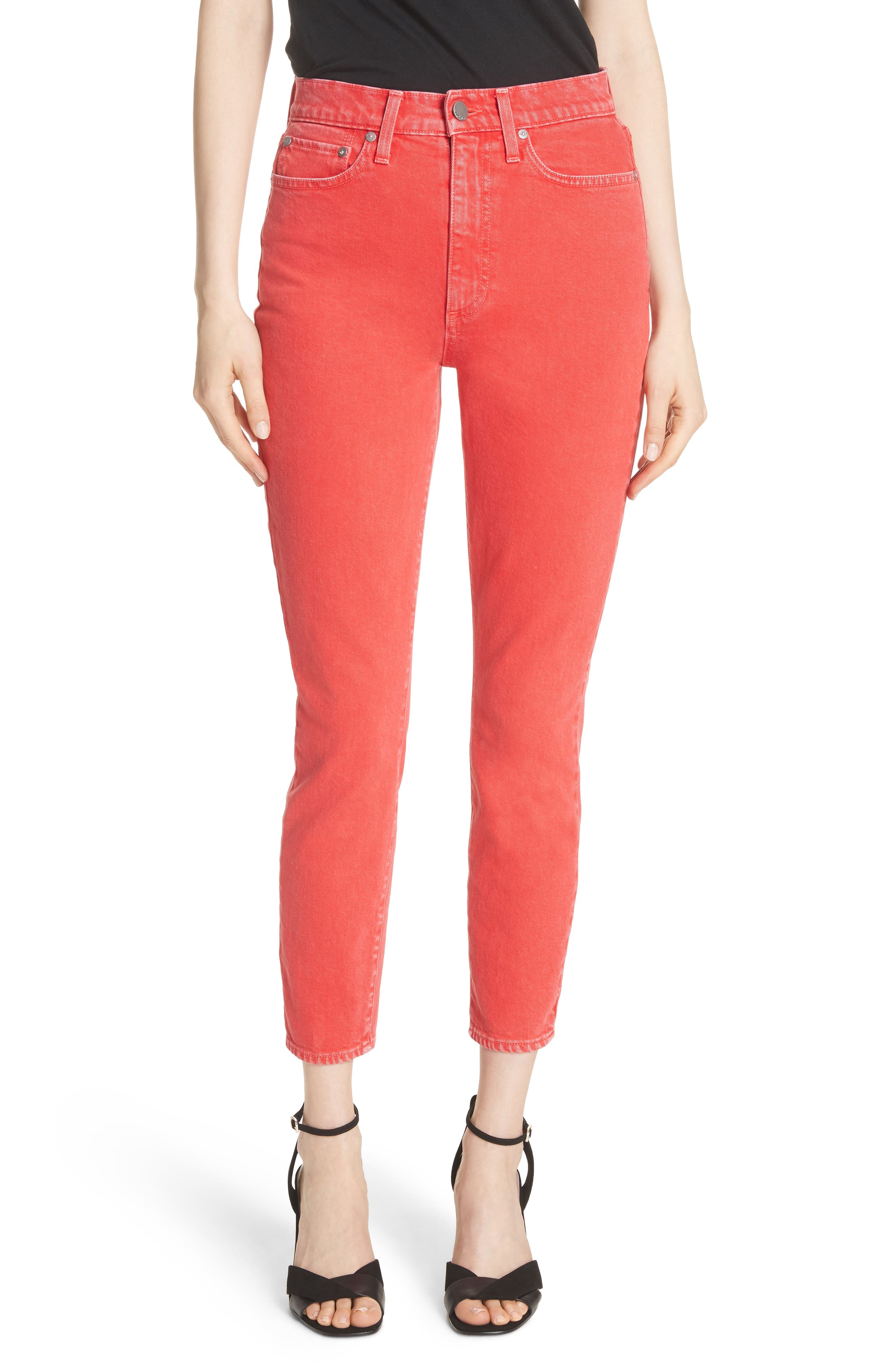 AO.LA Good High Rise Ankle Skinny Jeans (Perfect Poppy)