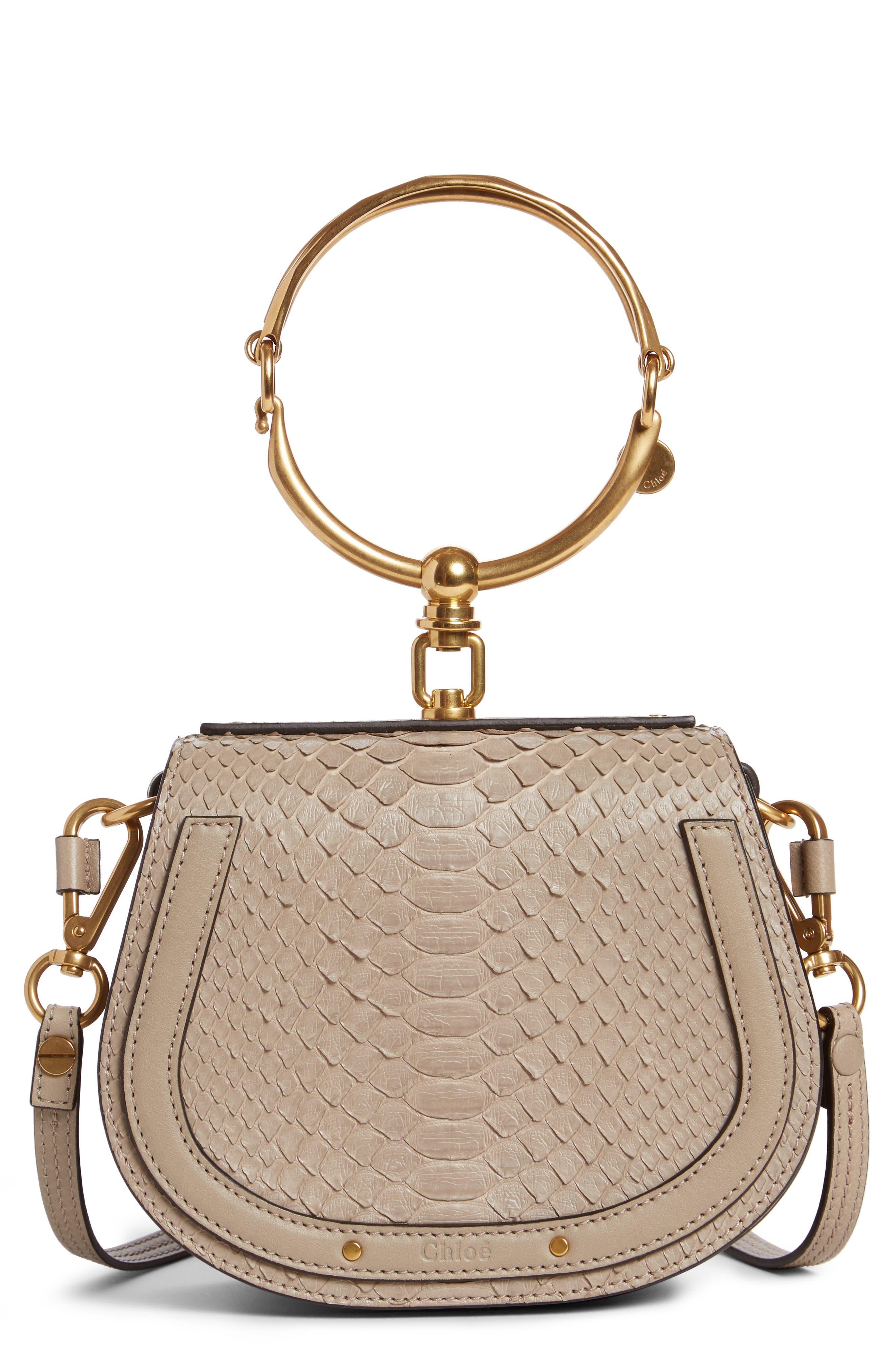 Chloé Small Nile Genuine Python Crossbody Bag