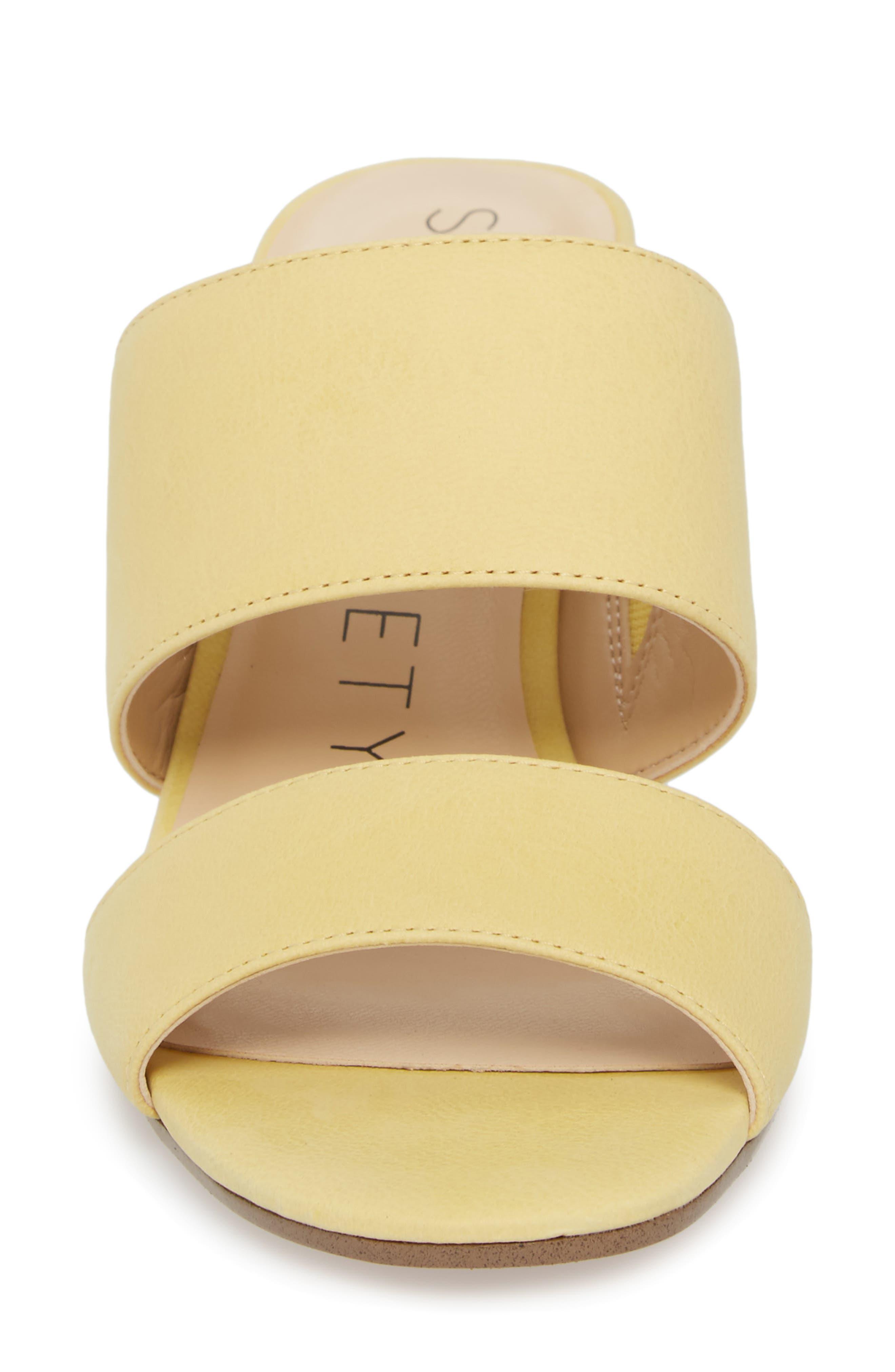 Heline Slide Sandal,                             Alternate thumbnail 4, color,                             Pale Yellow