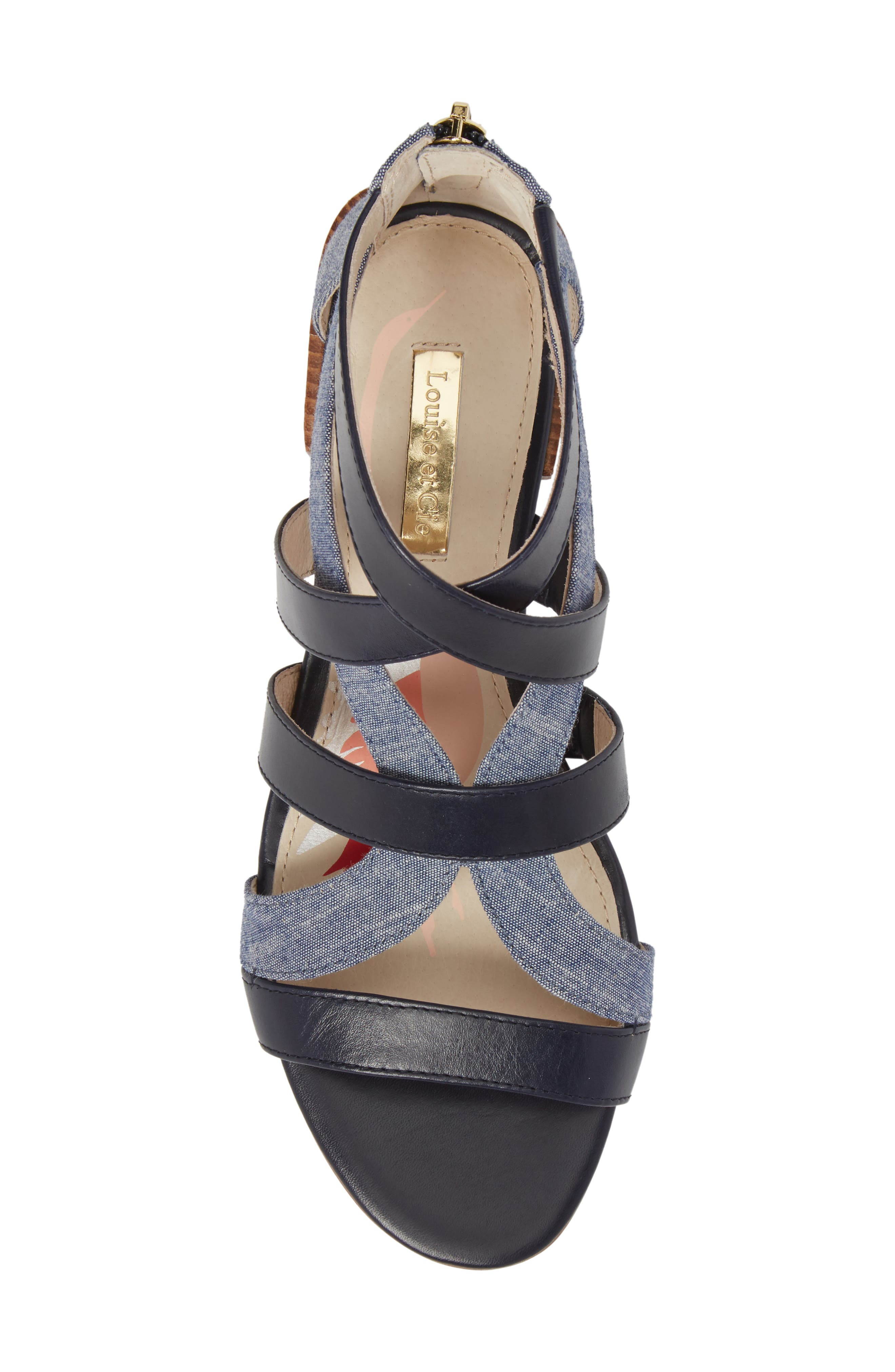 Almeyna Strappy Sandal,                             Alternate thumbnail 5, color,                             Blue Moon Leather