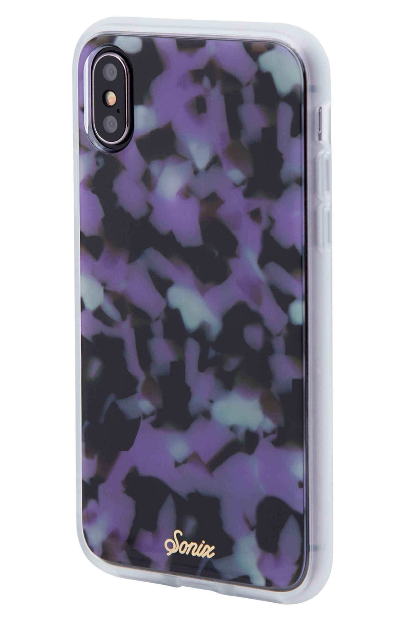Terrazzo Lilac iPhone X Case,                             Alternate thumbnail 2, color,                             Lilac