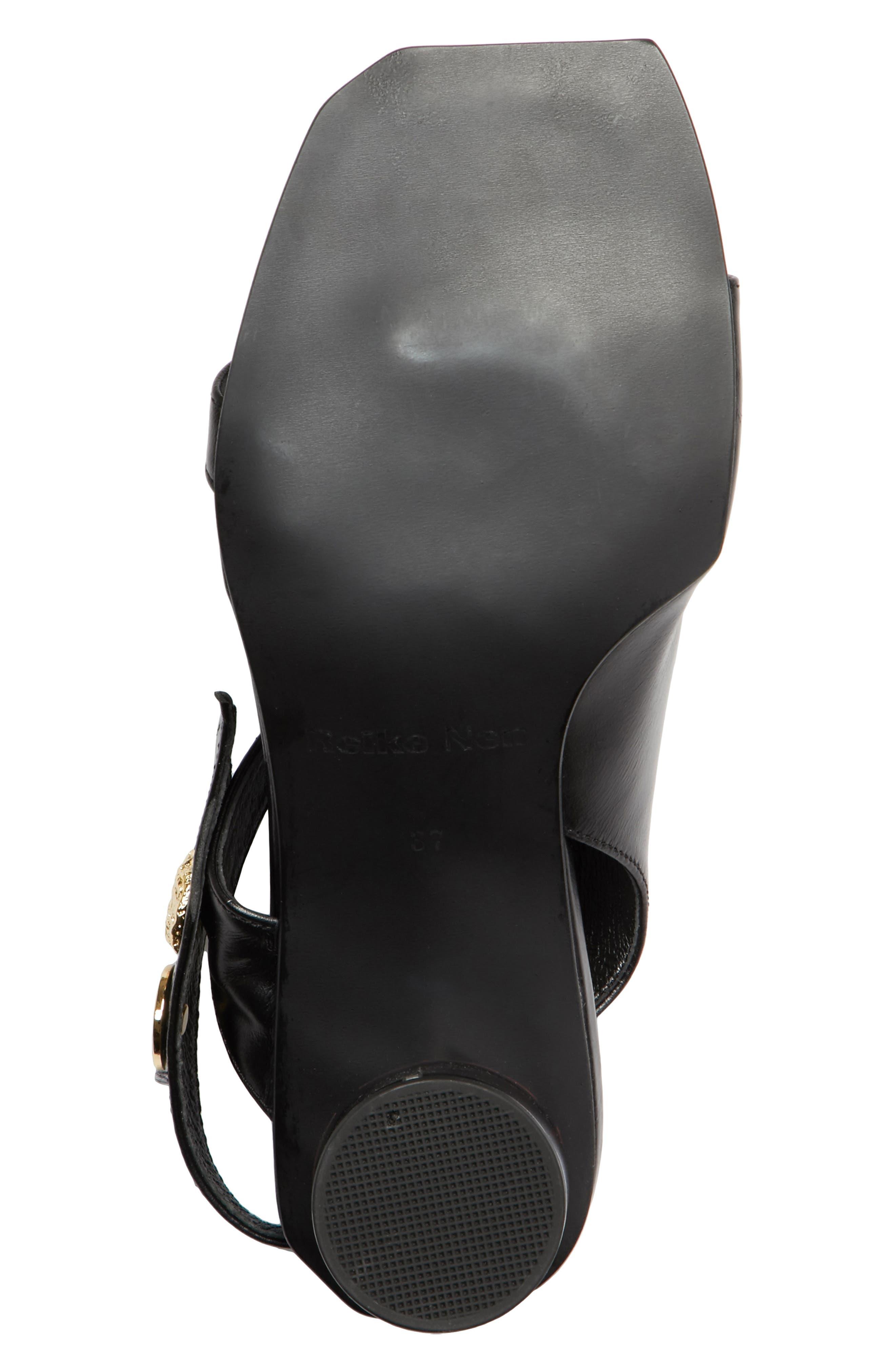 Embellished Leather Sandal,                             Alternate thumbnail 7, color,                             Black