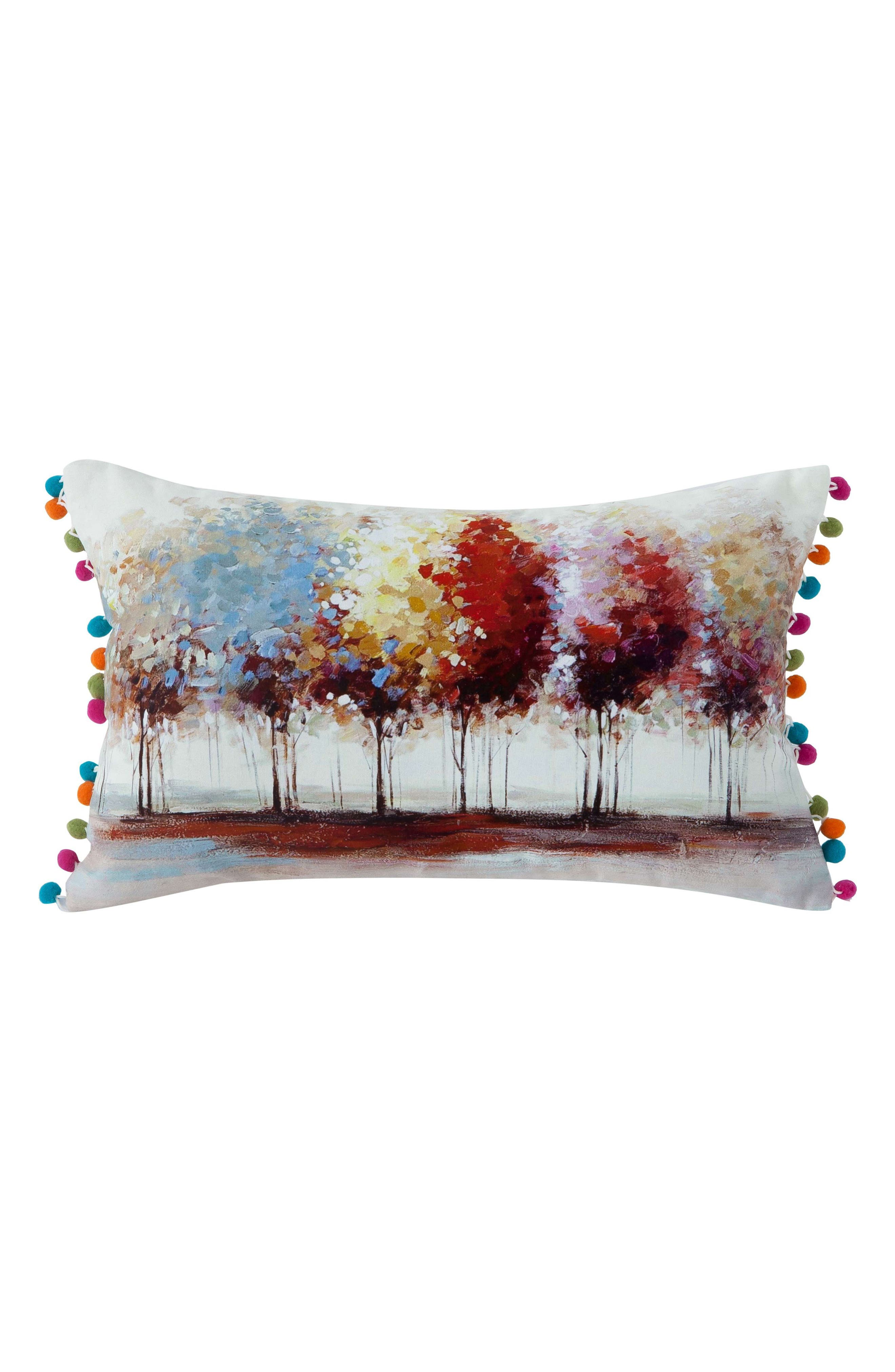 Willow Tree Accent Pillow,                             Main thumbnail 1, color,                             White Multi