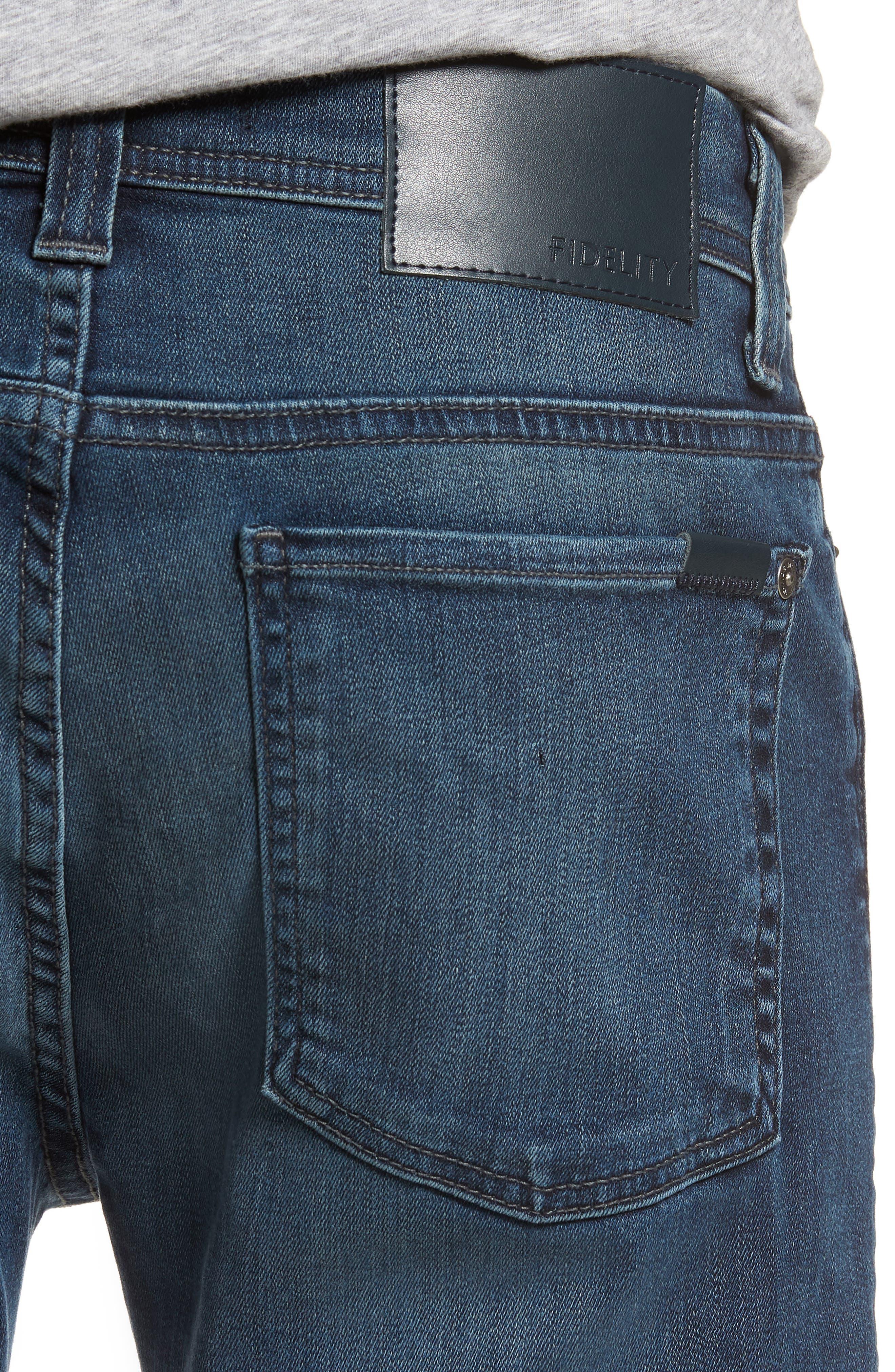 Jimmy Slim Straight Leg Jeans,                             Alternate thumbnail 4, color,                             Atlas Blue