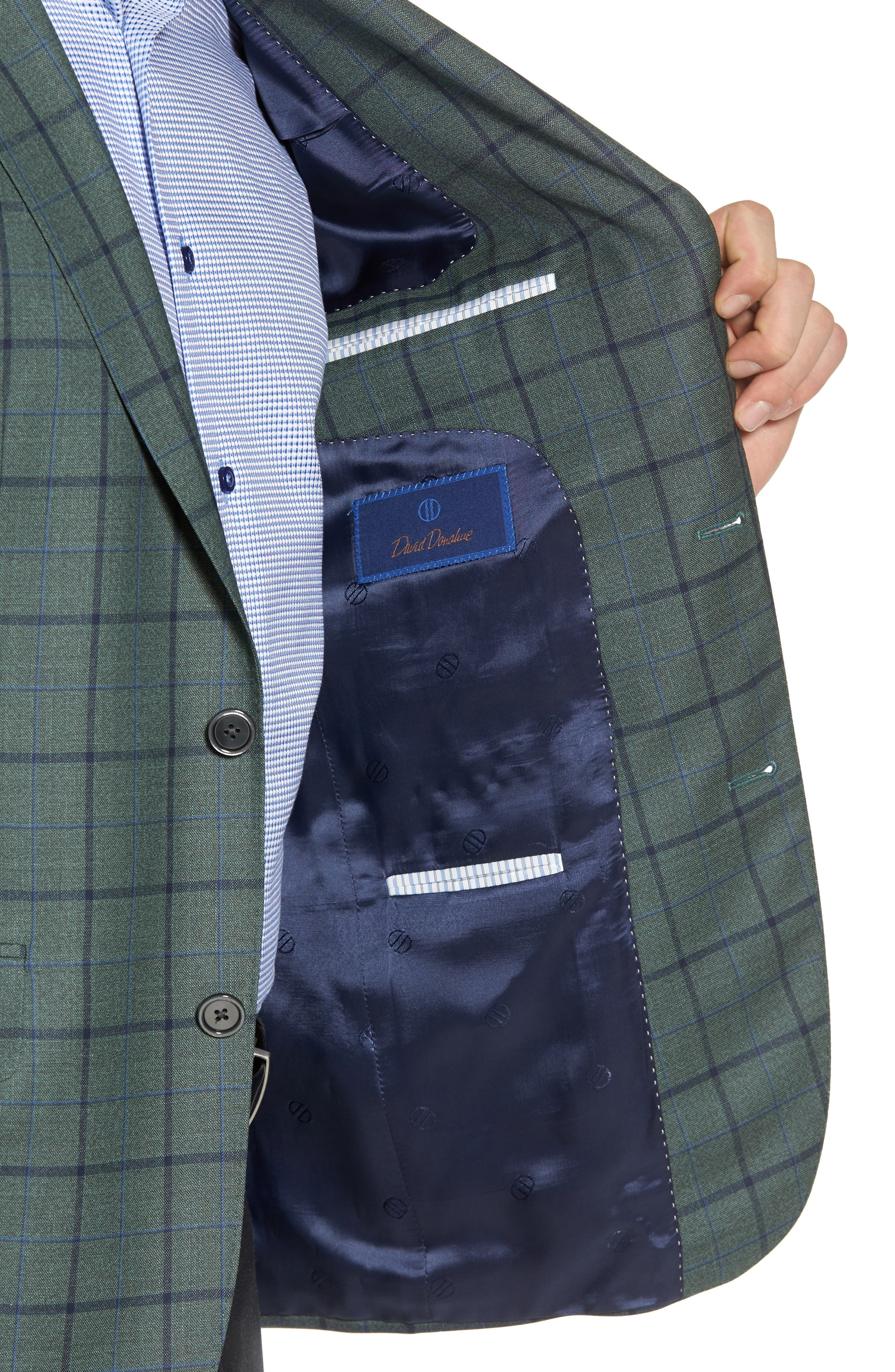 Connor Classic Fit Sport Coat,                             Alternate thumbnail 4, color,                             Green
