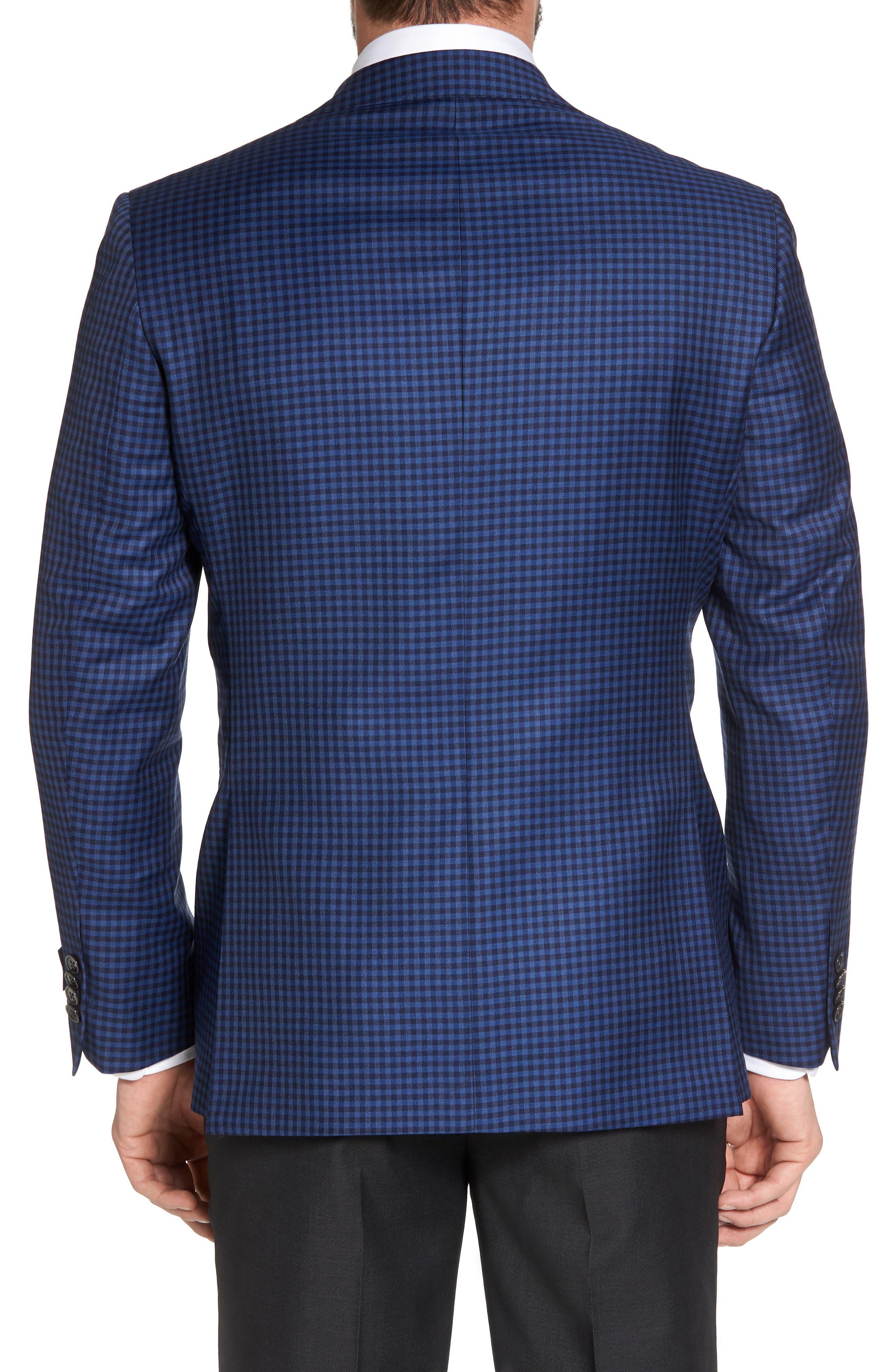 Connor Classic Fit Check Wool Sport Coat,                             Alternate thumbnail 2, color,                             Medium Blue