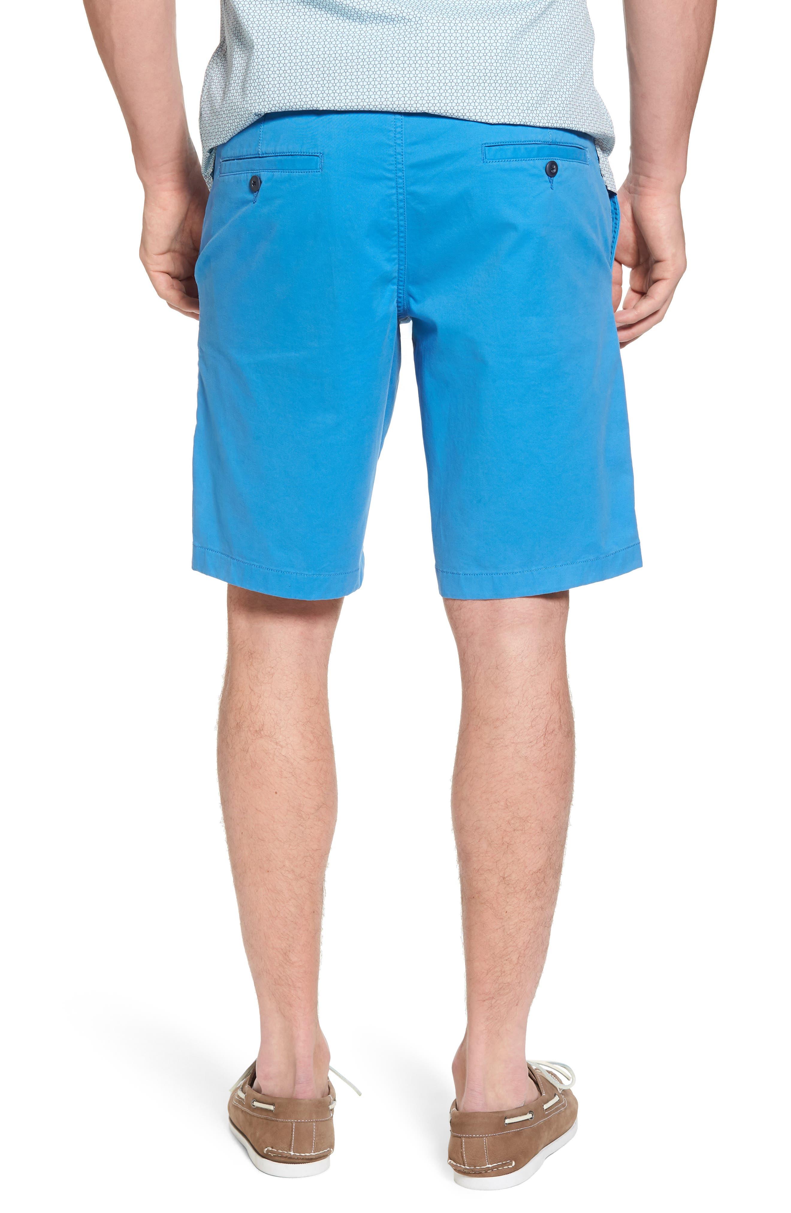 Ballard Slim Fit Stretch Chino 11-Inch Shorts,                             Alternate thumbnail 4, color,                             Blue Camp
