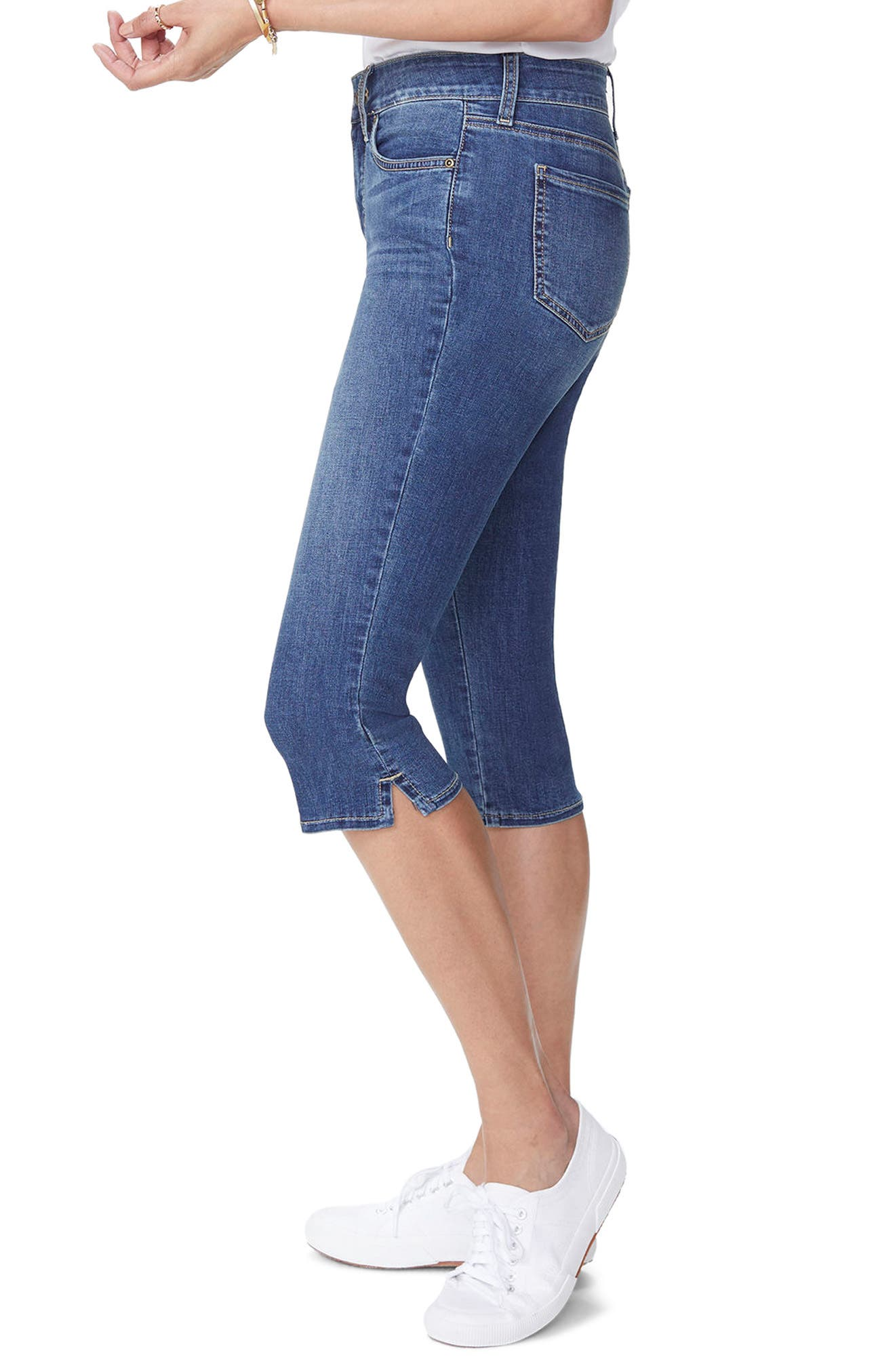 Skinny Capri Jeans,                             Alternate thumbnail 3, color,                             Zimbali