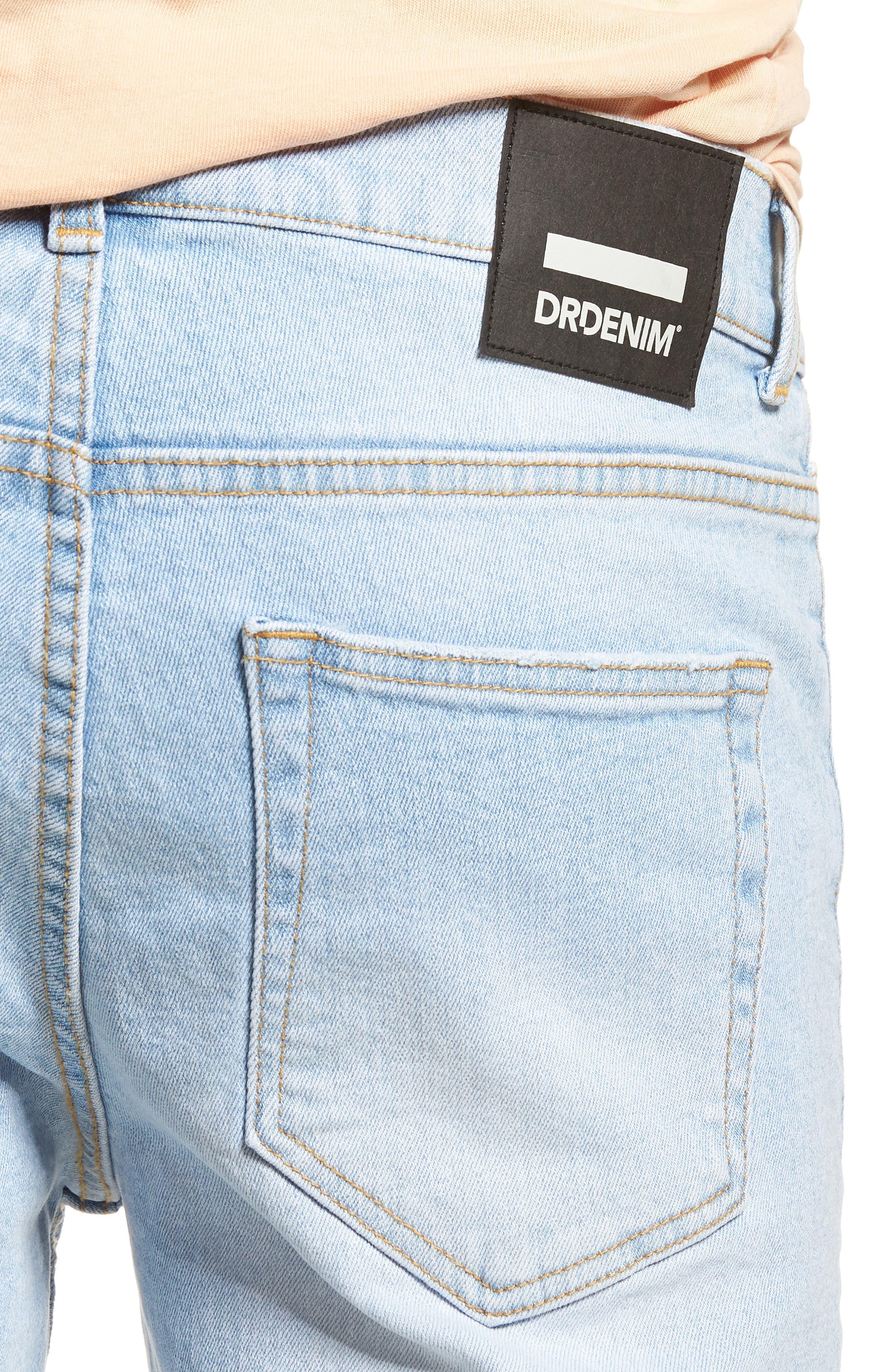 Clark Slim Straight Leg Jeans,                             Alternate thumbnail 4, color,                             Superlight Blue Ripped