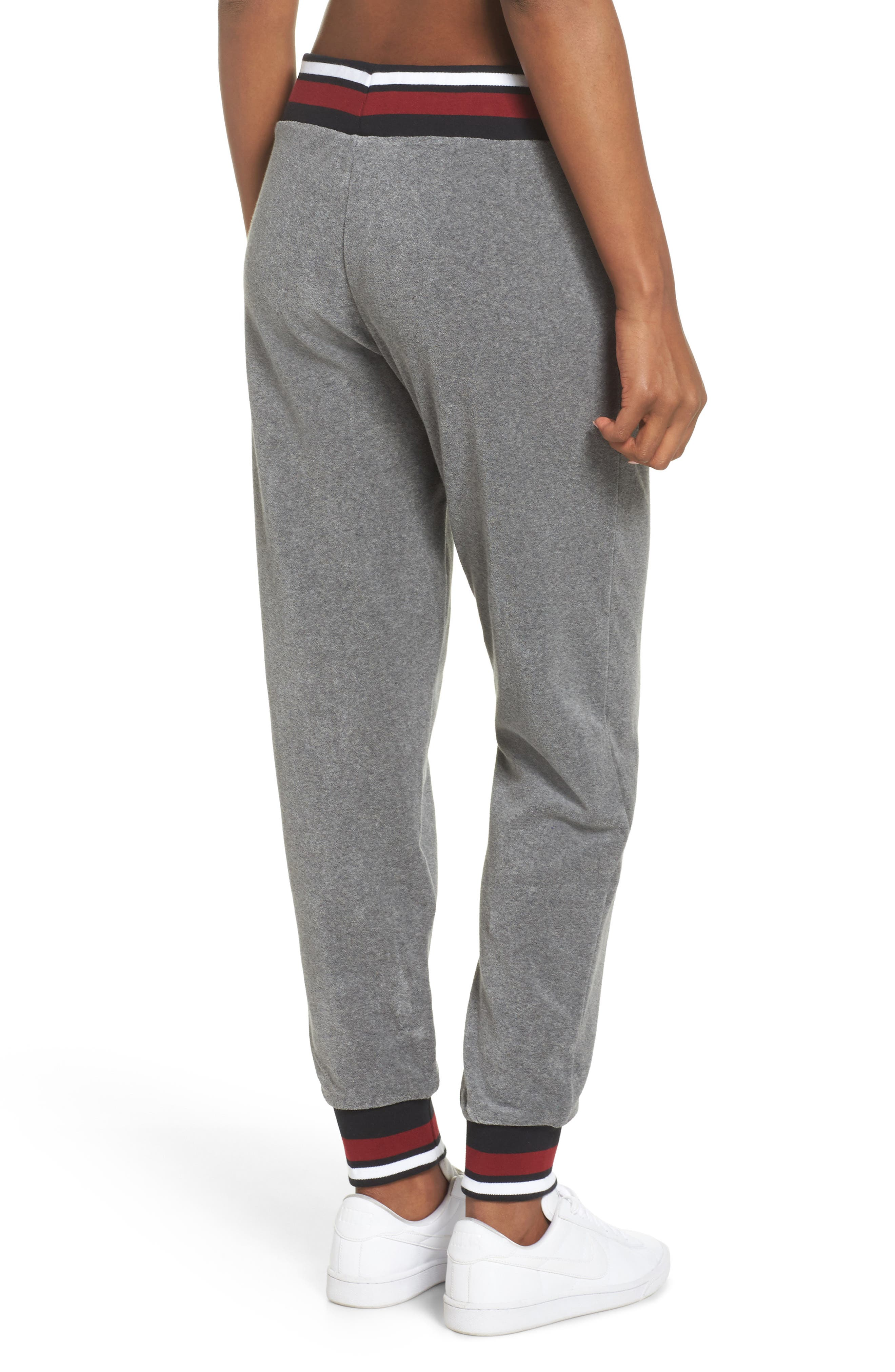 Sportswear French Terry Pants,                             Alternate thumbnail 2, color,                             Carbon Heather/ Team Red