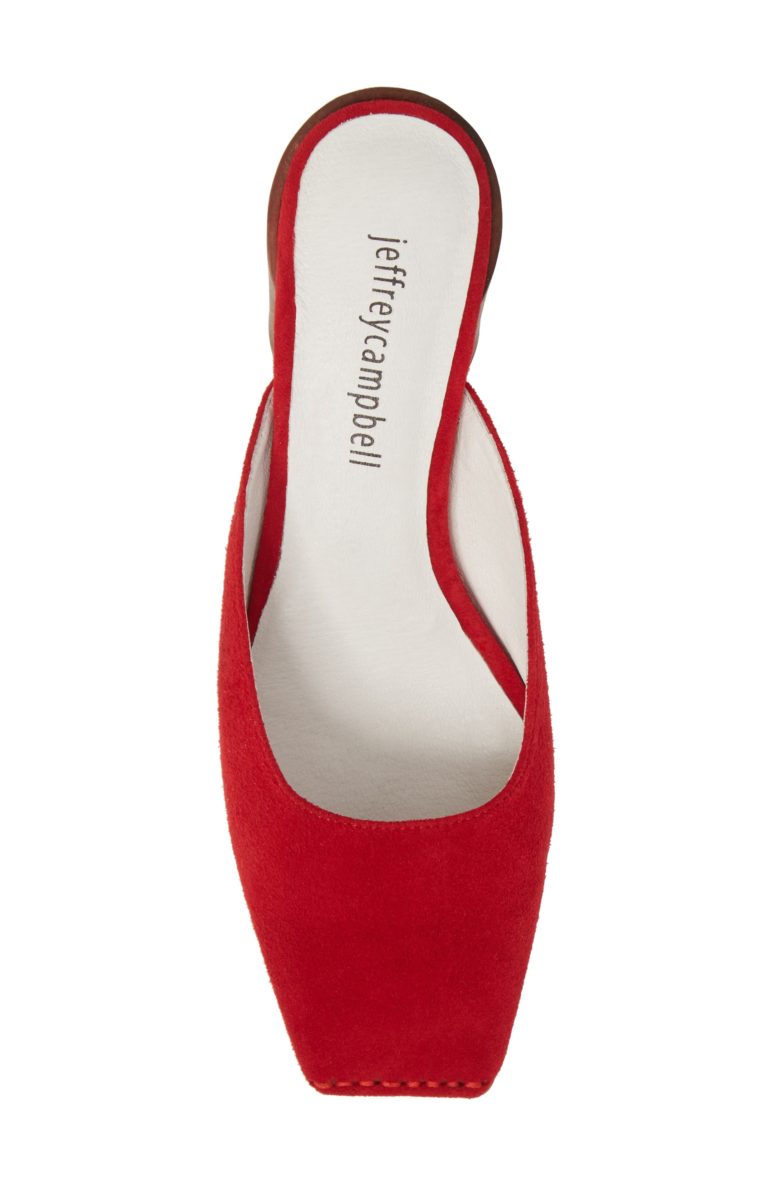 Lakme Mule,                             Alternate thumbnail 5, color,                             Red Suede