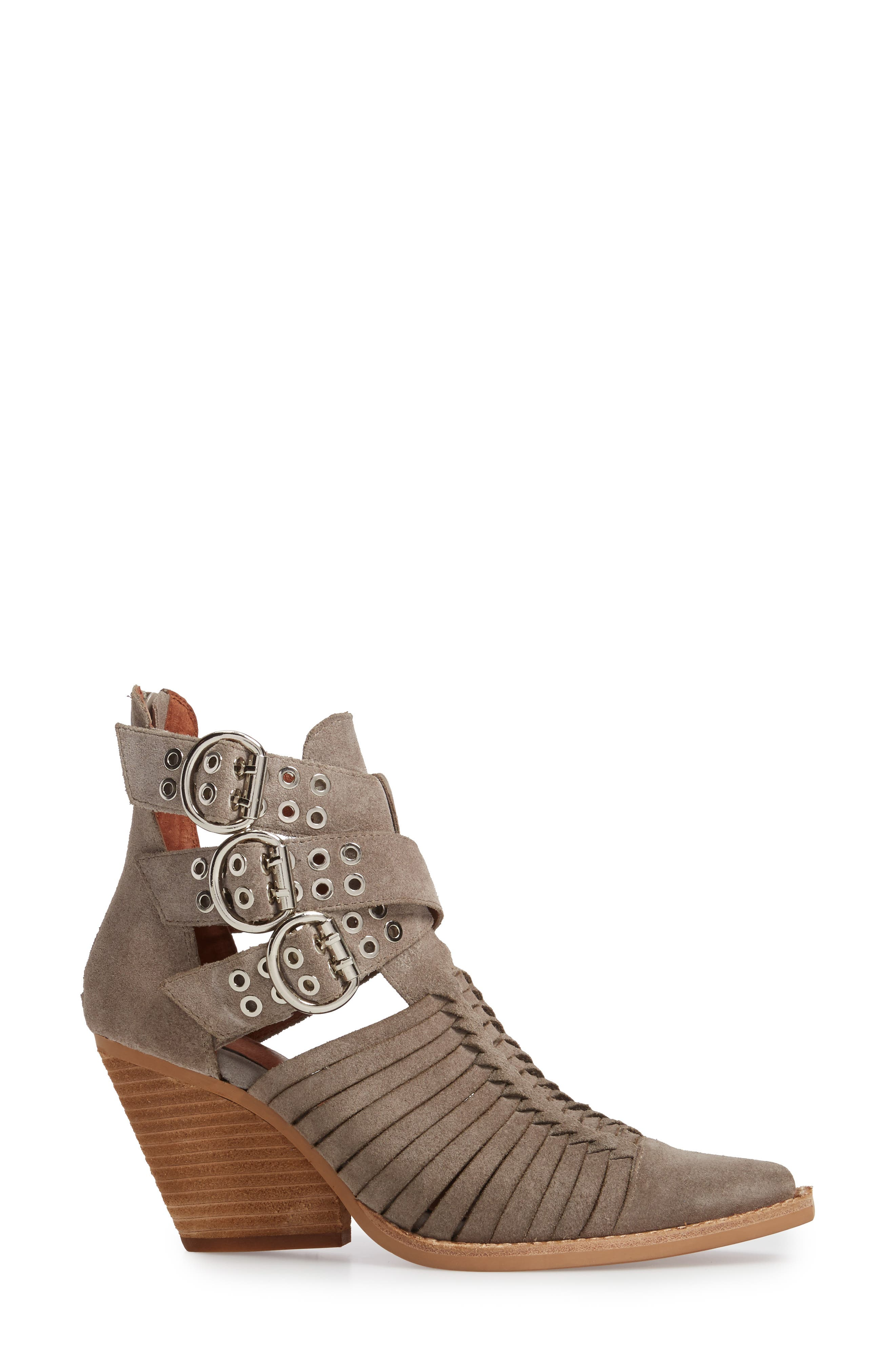 Jamison Bootie,                             Alternate thumbnail 3, color,                             Taupe Oiled Suede