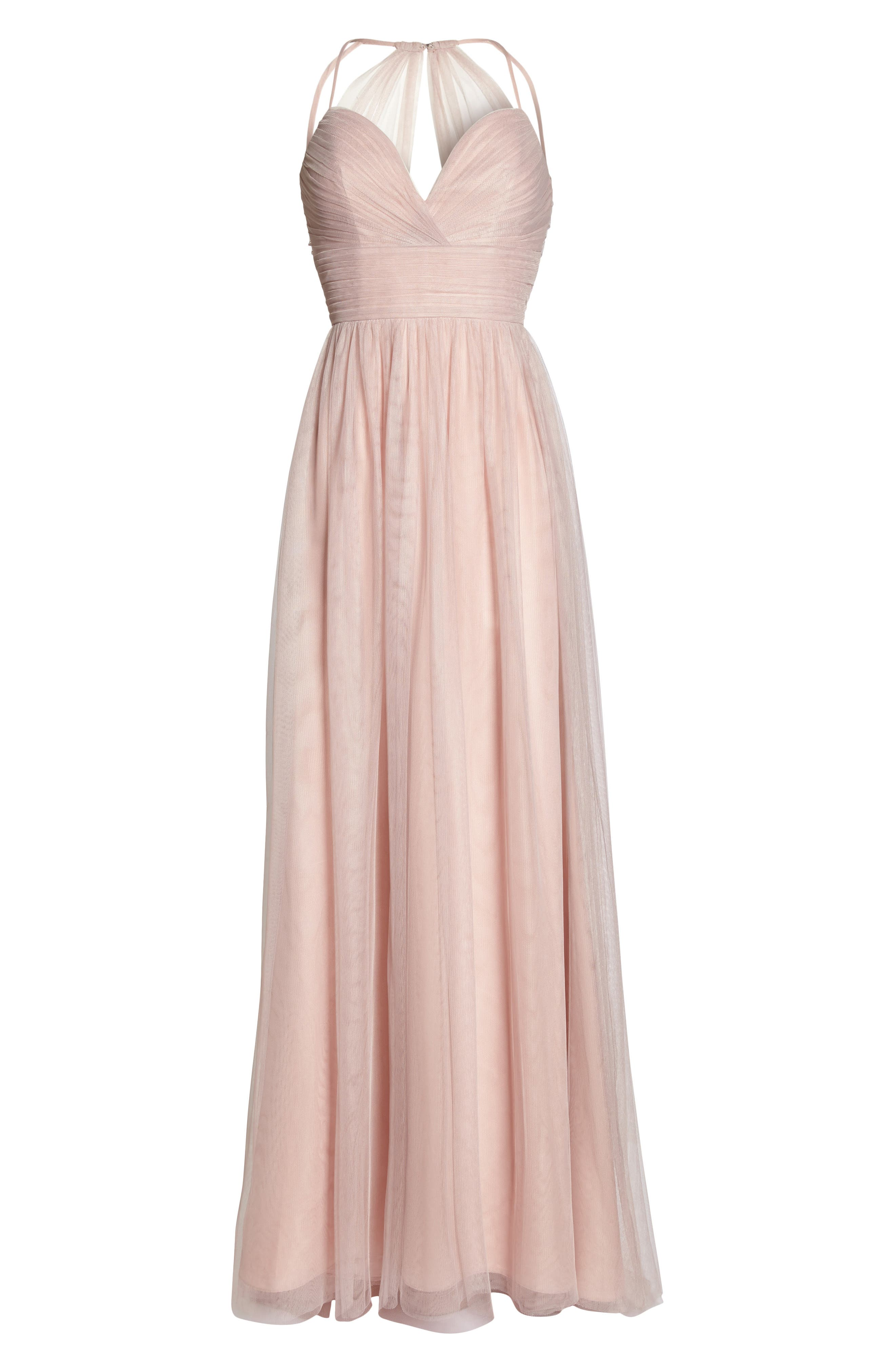 English Net Gown,                             Alternate thumbnail 6, color,                             Dusty Rose