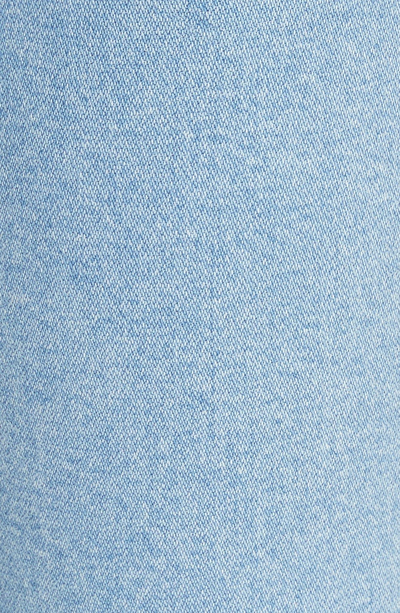 Justine High Waist Wide Leg Trouser Jeans,                             Alternate thumbnail 5, color,                             Broken Nelly