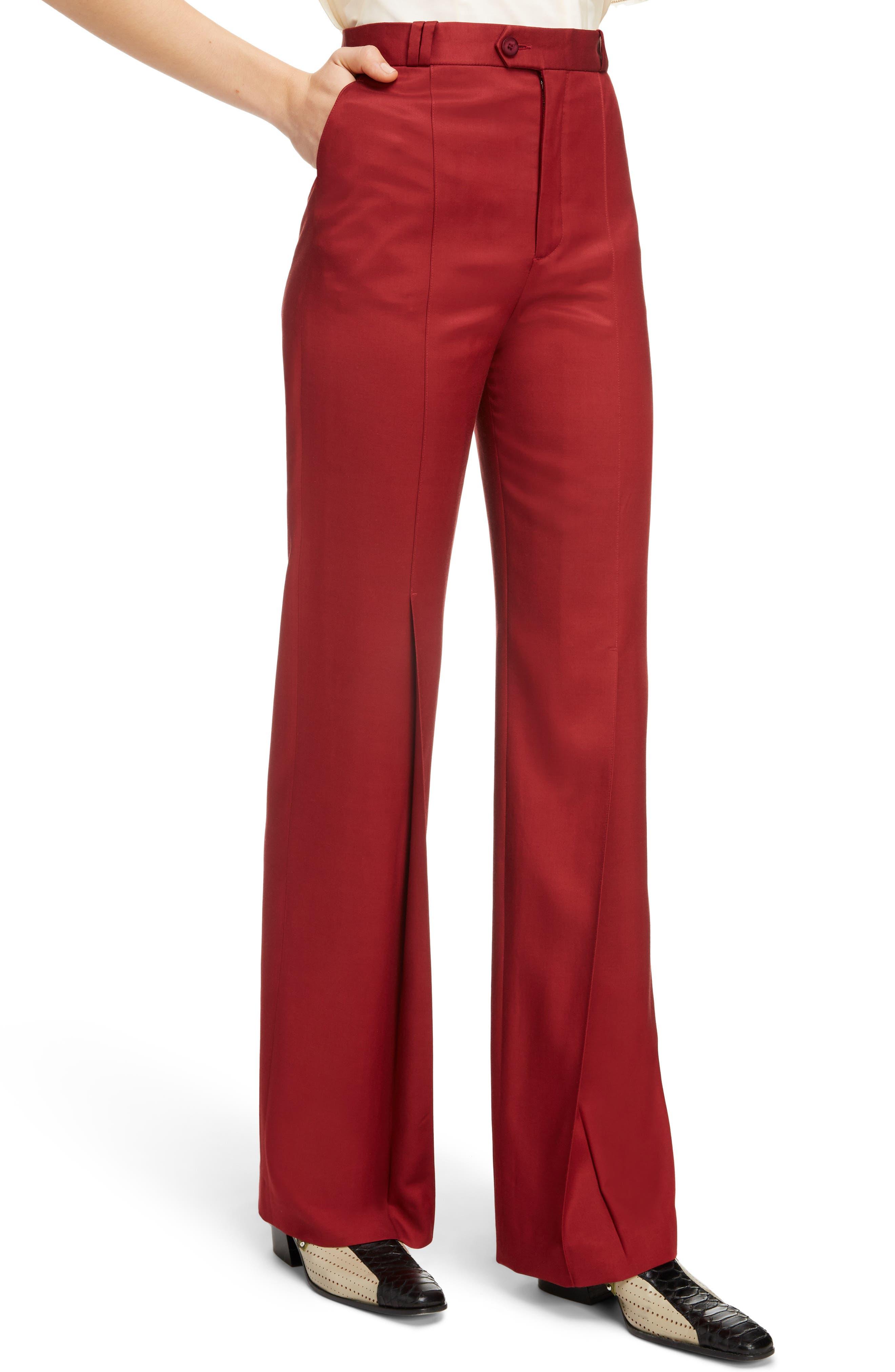 Tohny Suit Pants,                             Alternate thumbnail 5, color,                             Crimson Red