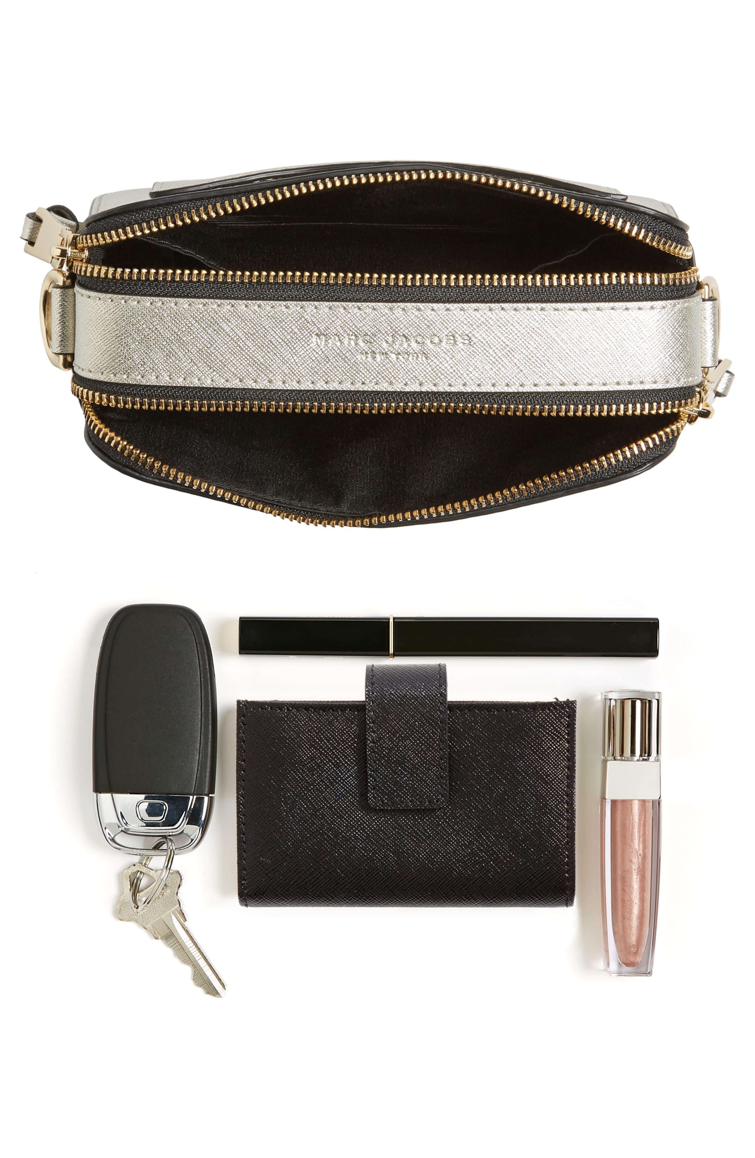 Alternate Image 7  - MARC JACOBS Snapshot Leather Crossbody Bag