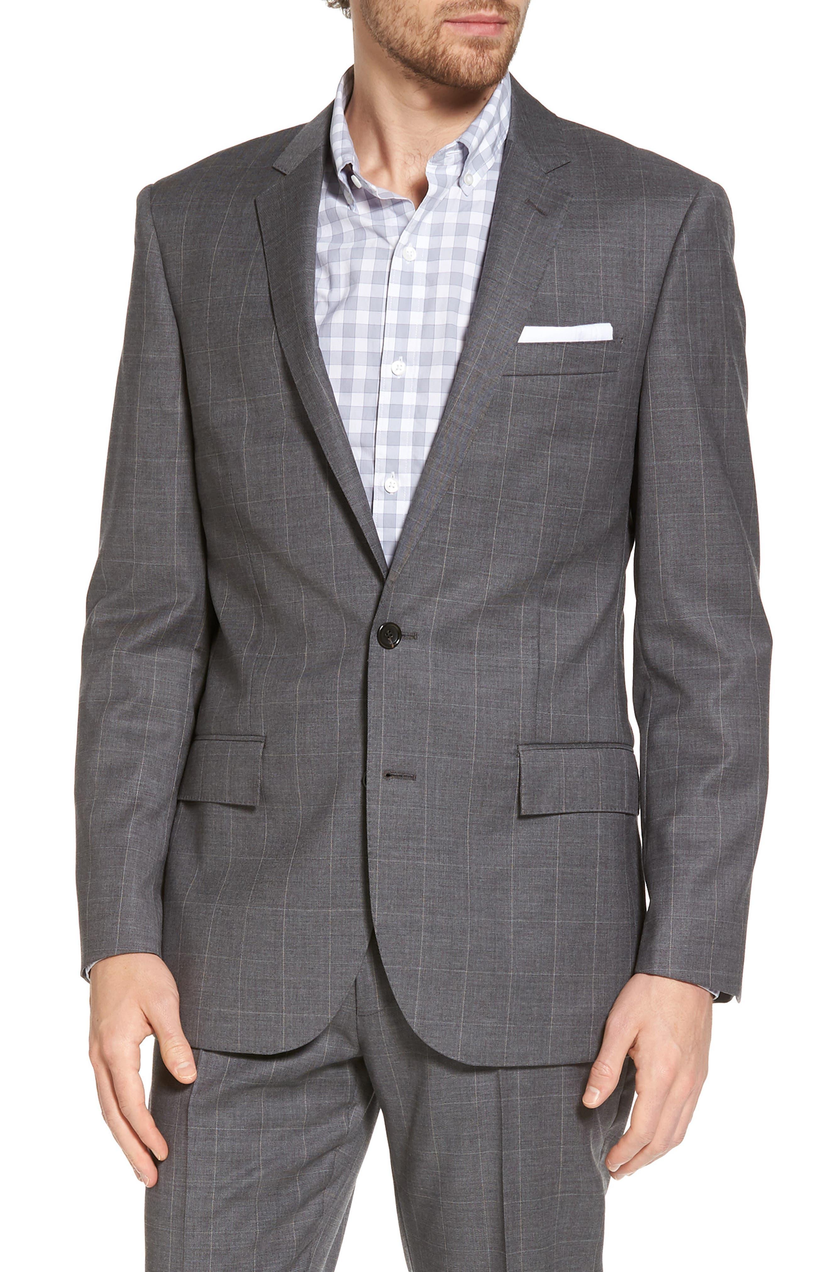 J.Crew Ludlow Wool Blend Sport Coat,                         Main,                         color, Steel Grey