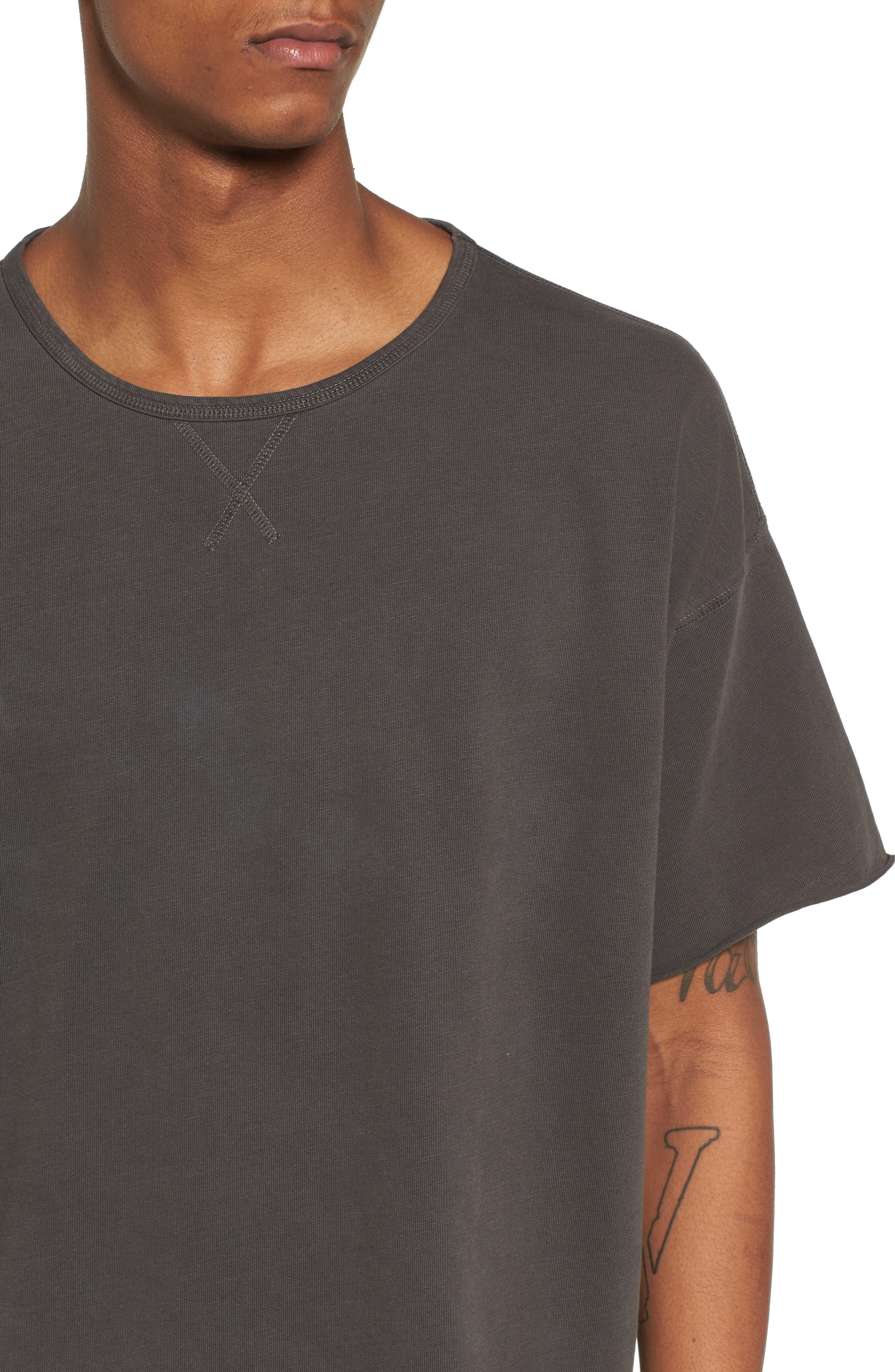 Slub T-Shirt,                             Alternate thumbnail 4, color,                             Grey Onyx