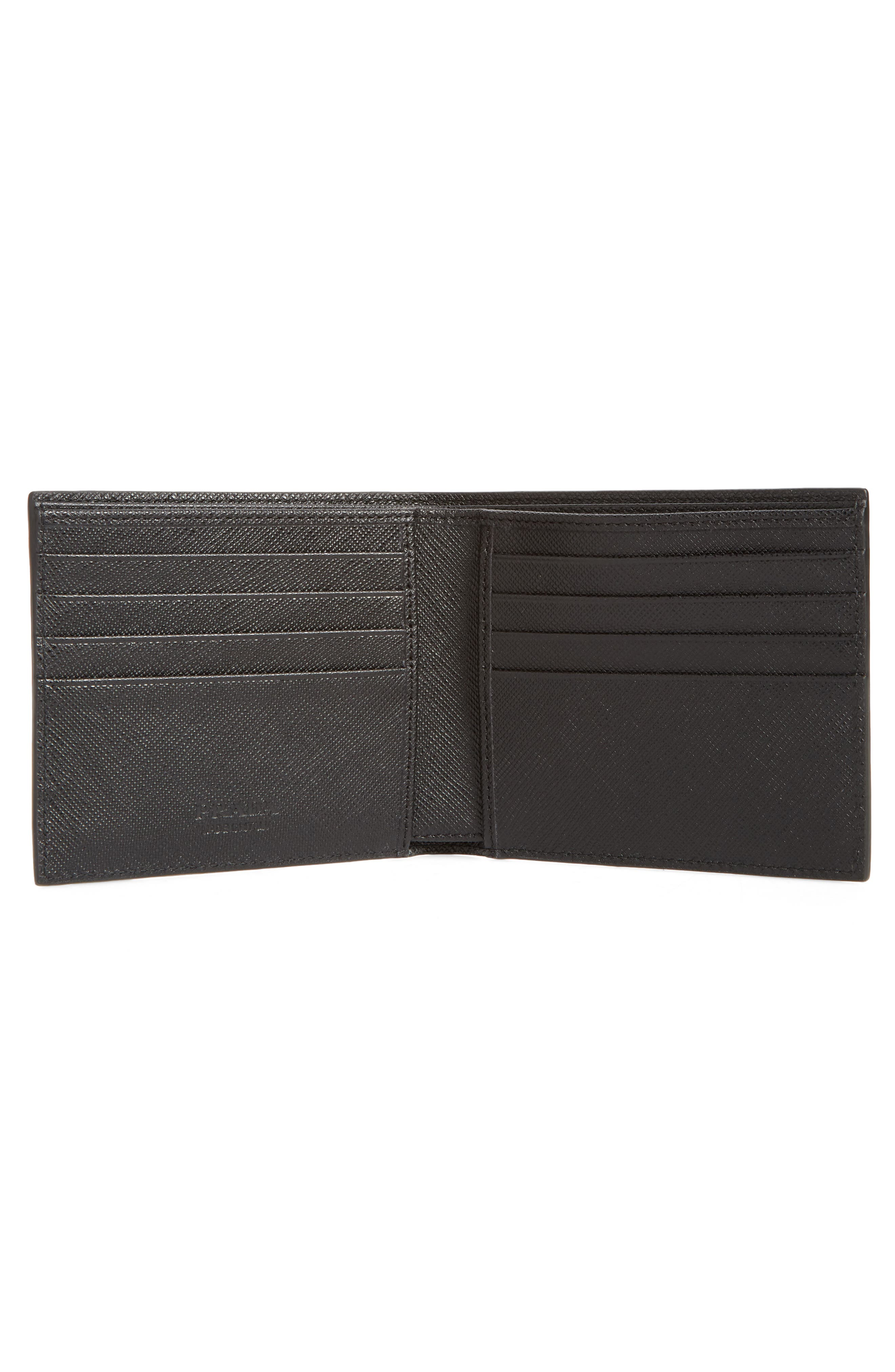 Alternate Image 2  - Prada Arrow Calfskin Leather Wallet