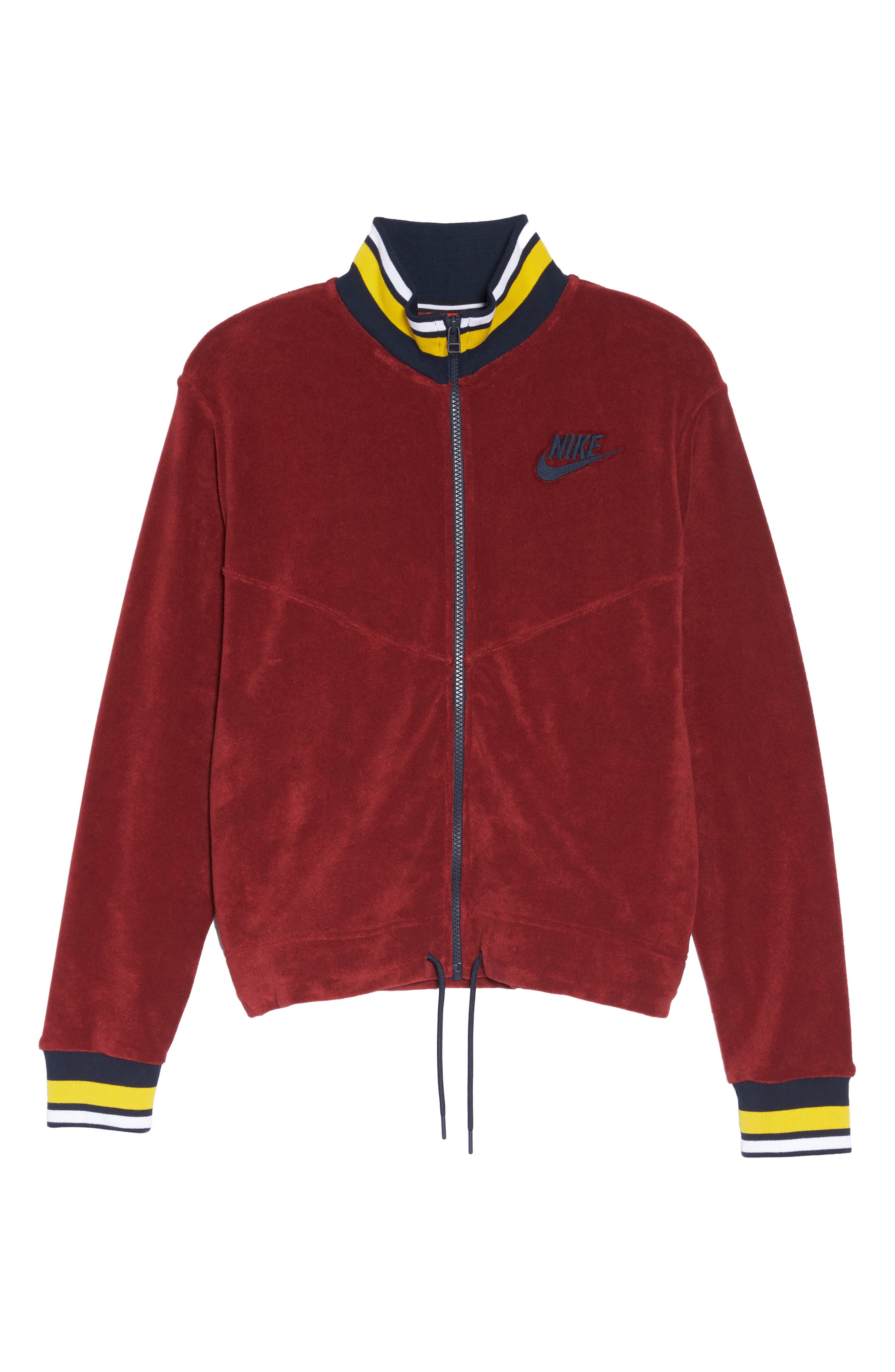 Sportswear French Terry Jacket,                             Alternate thumbnail 7, color,                             Team Red/ Team Red/ Obsidian