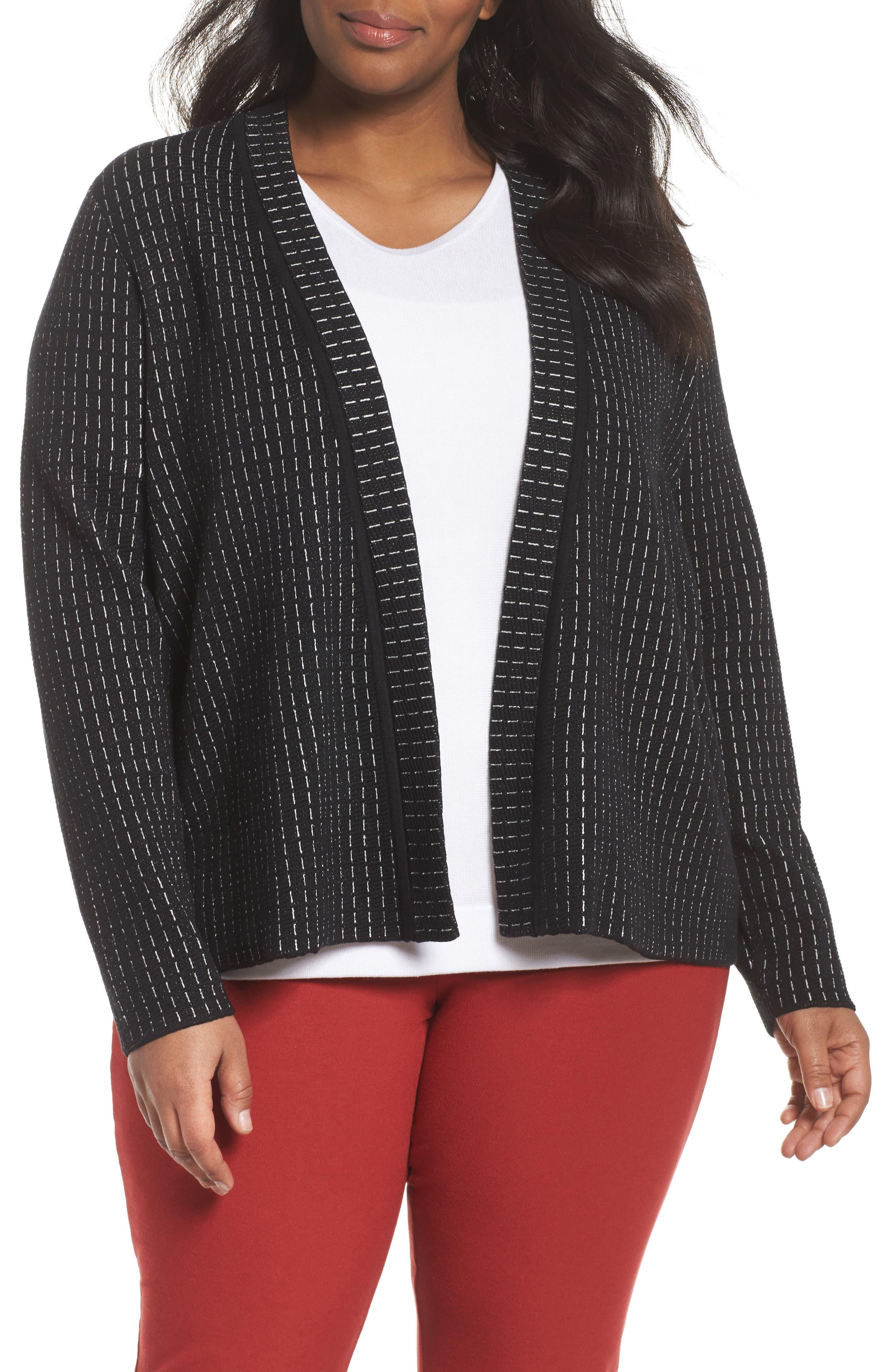 Eileen Fisher Simple Silk Blend Cardigan (Plus Size)