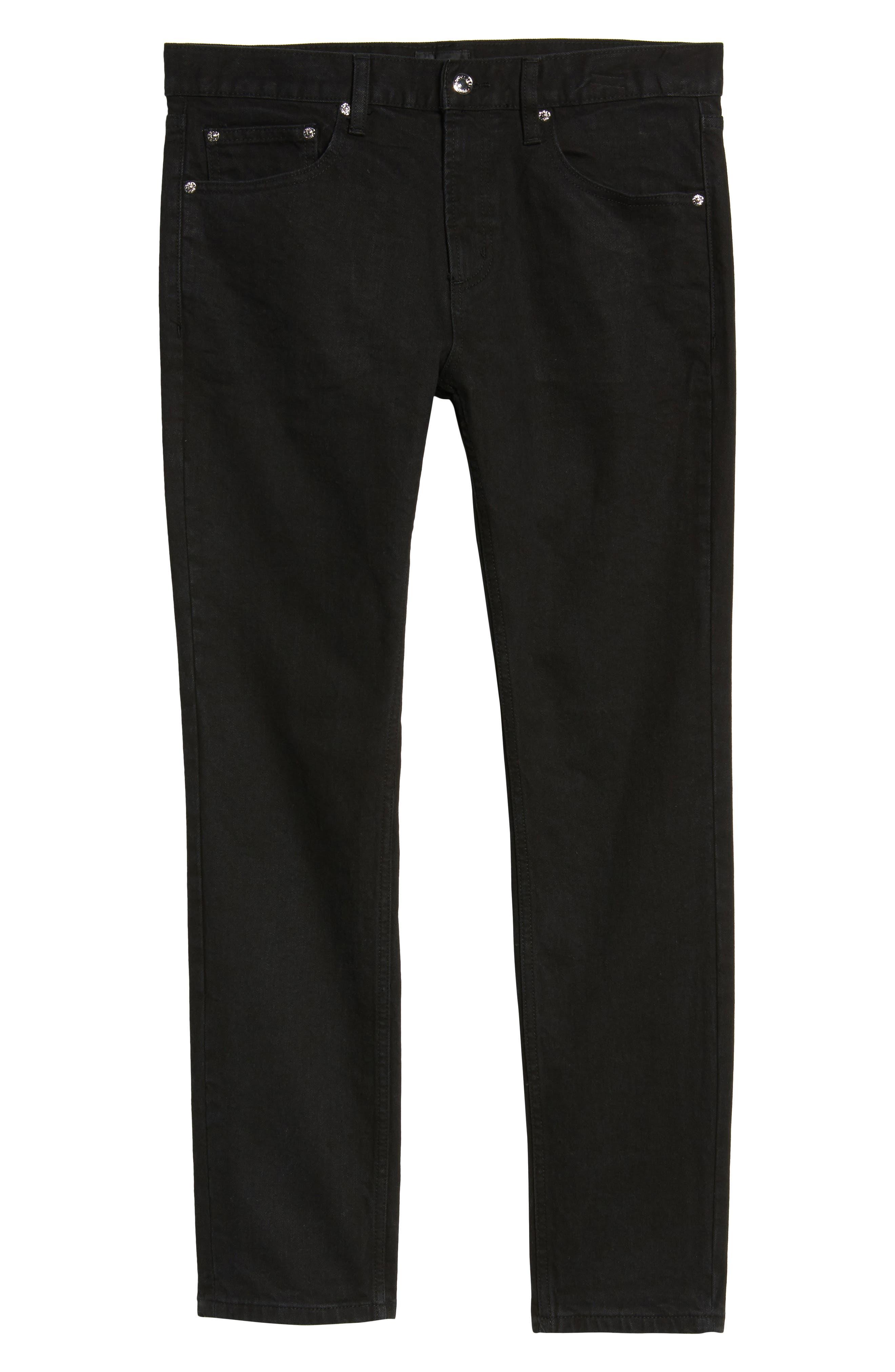 Juvee II Skinny Fit Jeans,                             Alternate thumbnail 6, color,                             Black
