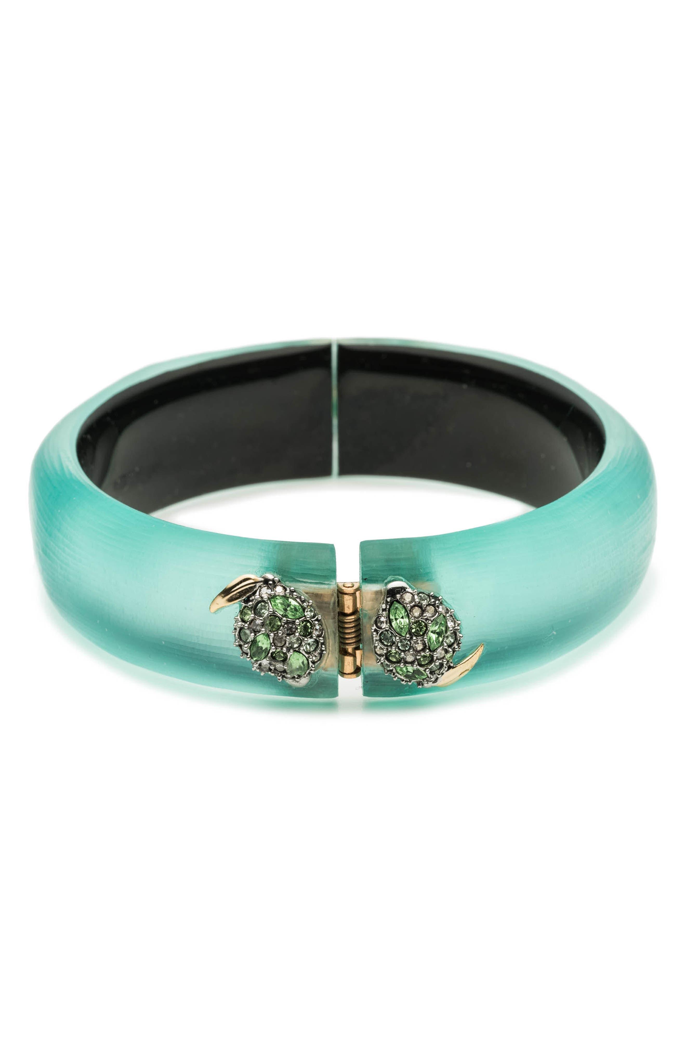 Medium Lime Hinge Bracelet,                             Alternate thumbnail 2, color,                             Mint Green