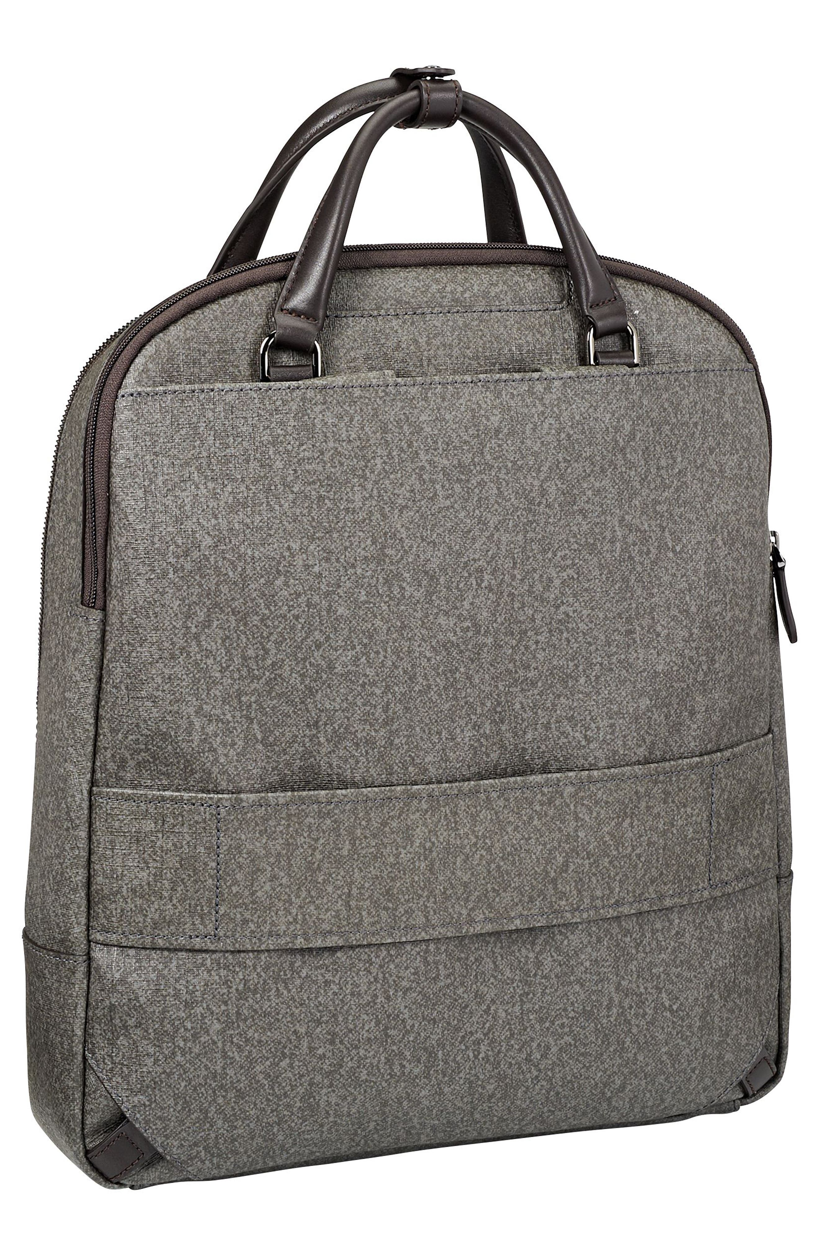 Stanton Orion Coated Canvas Backpack,                             Alternate thumbnail 3, color,                             Earl Grey