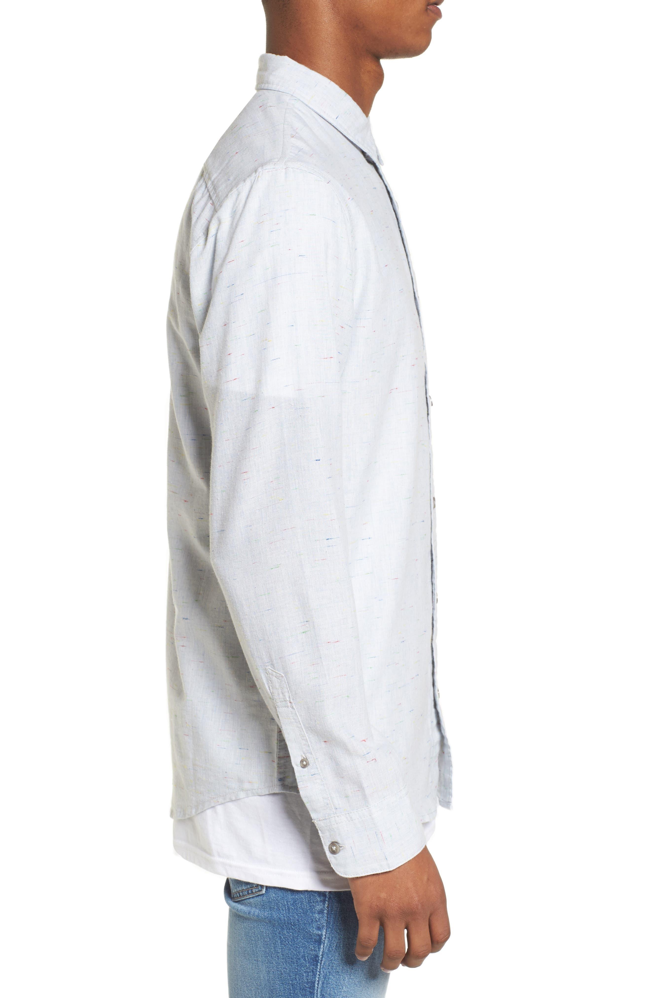 Long Sleeve Color Nep Shirt,                             Alternate thumbnail 3, color,                             Blue Chambray Multi Nep