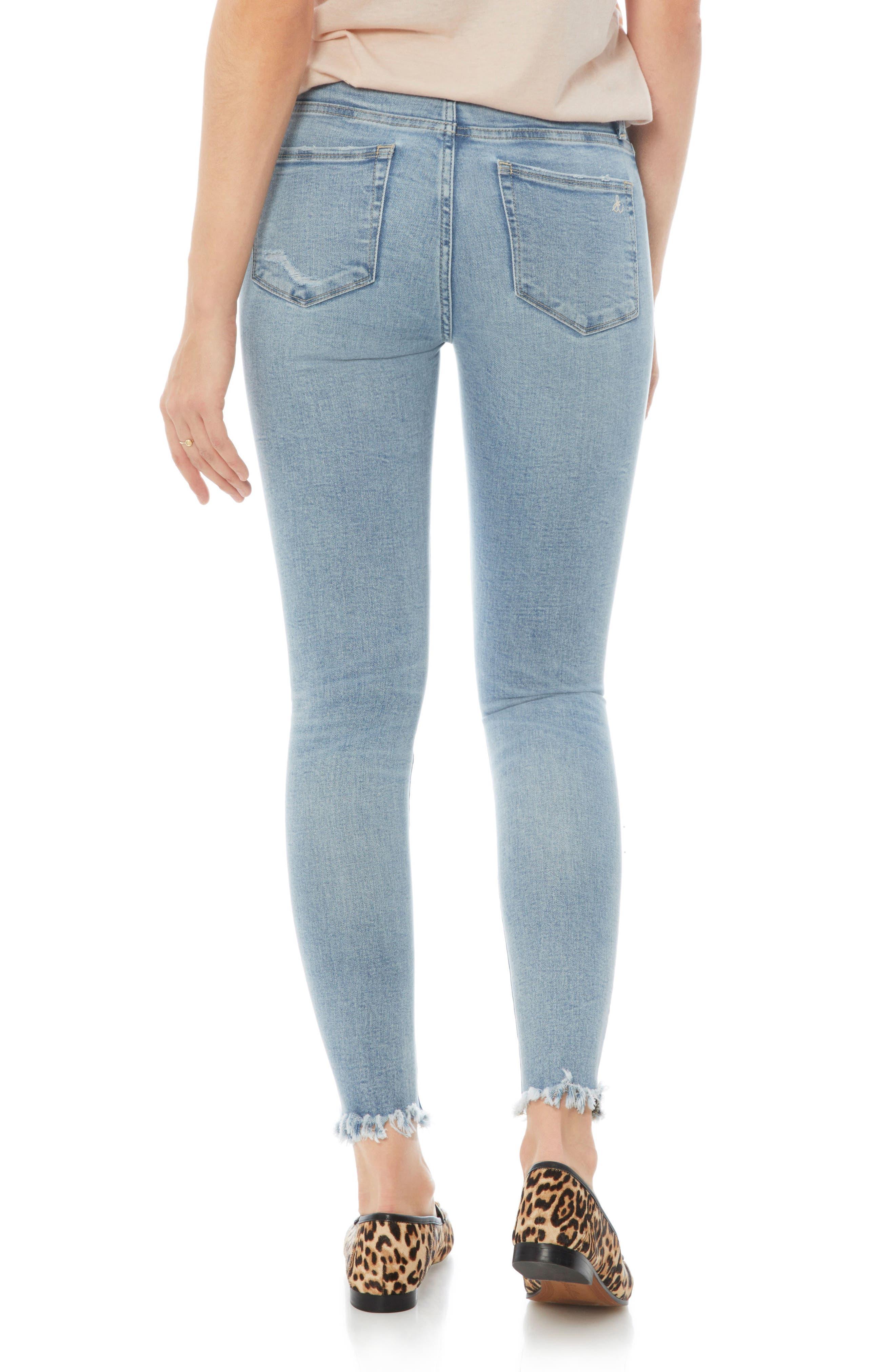 Alternate Image 2  - Sam Edelman The Stiletto Ripped Fringe Jeans (Honor)