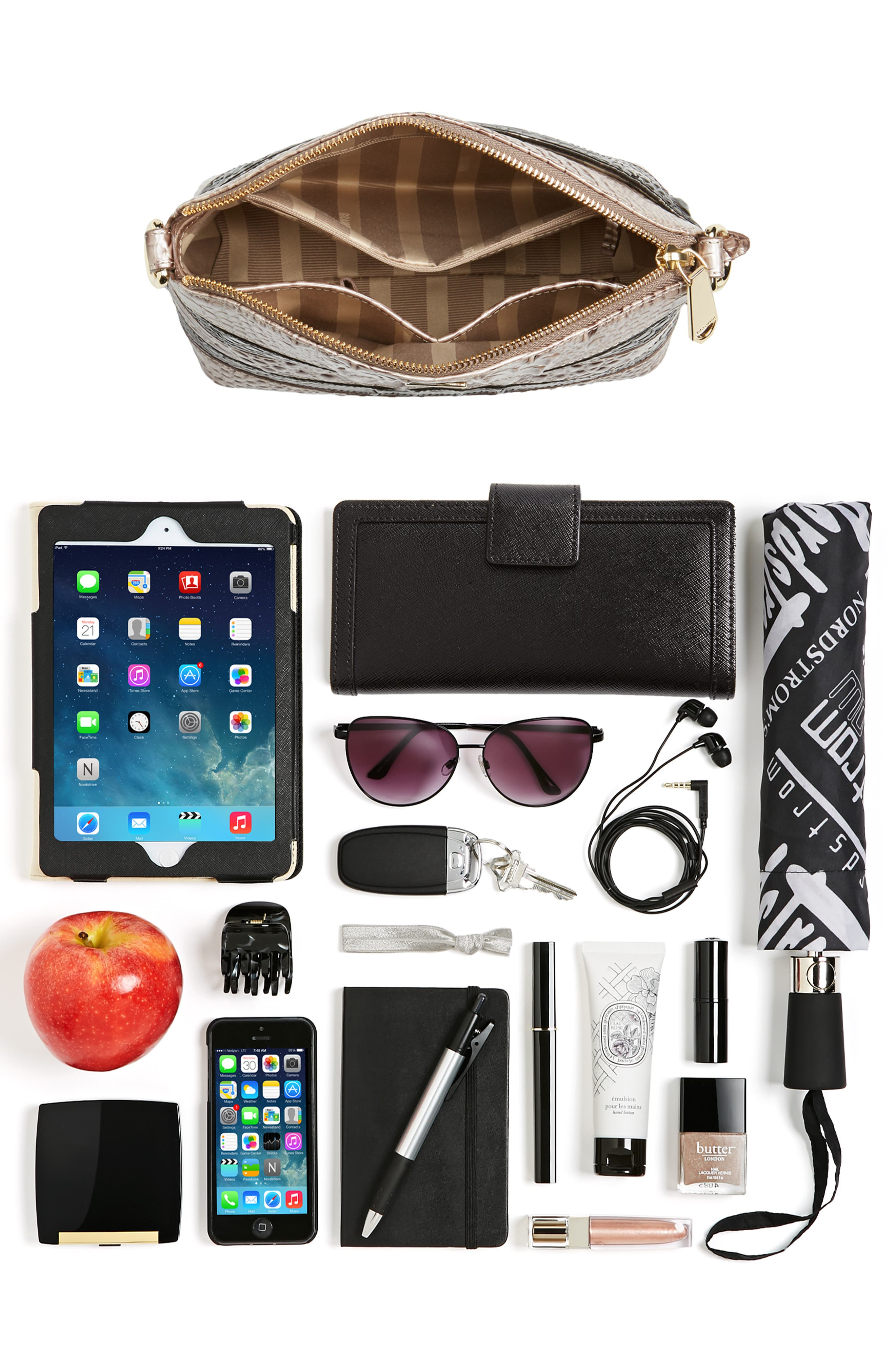 Mini Duxbury Leather Crossbody Bag,                             Alternate thumbnail 7, color,