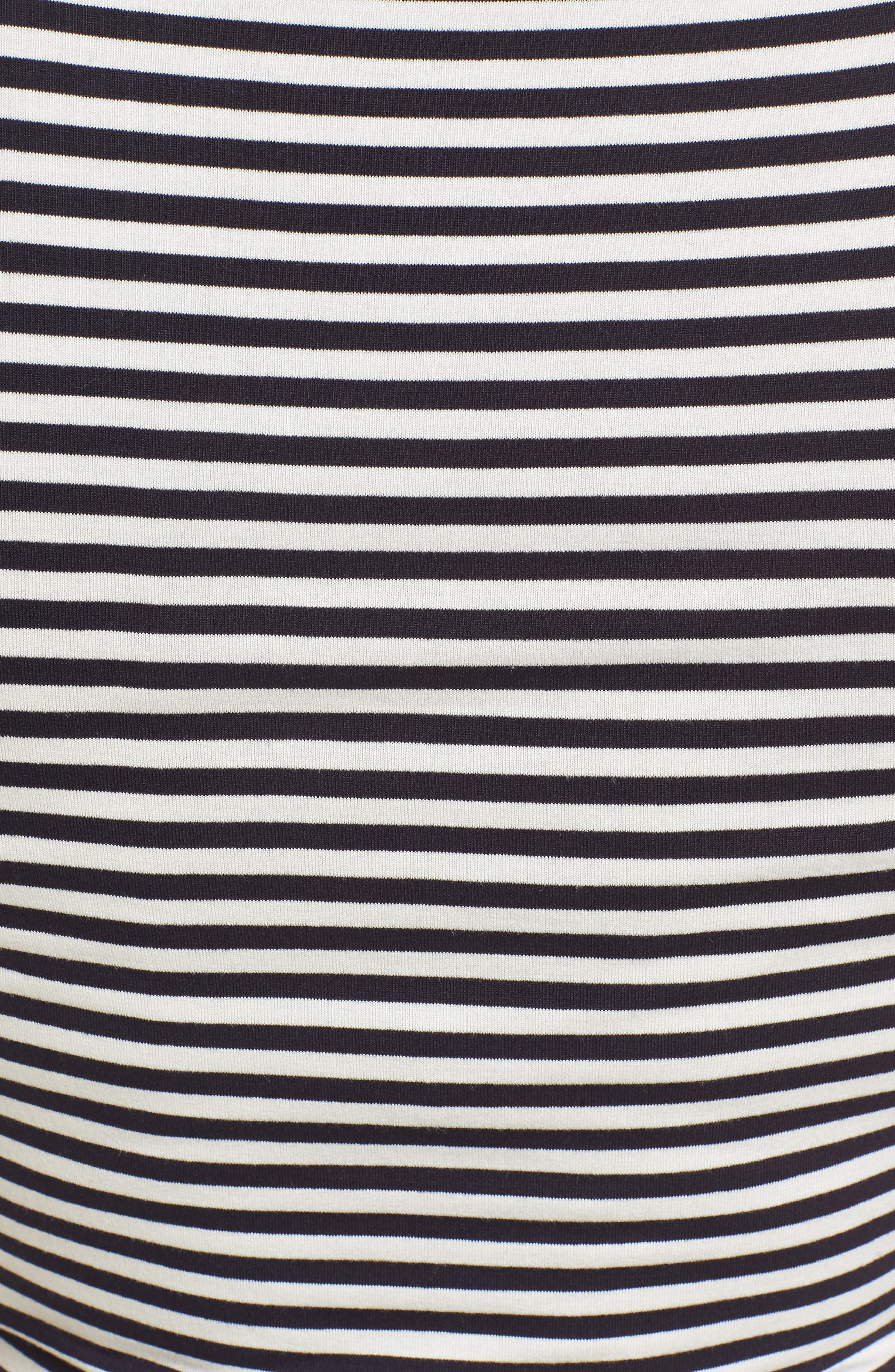 Jenna Maternity Top,                             Alternate thumbnail 5, color,                             Navy/Off White