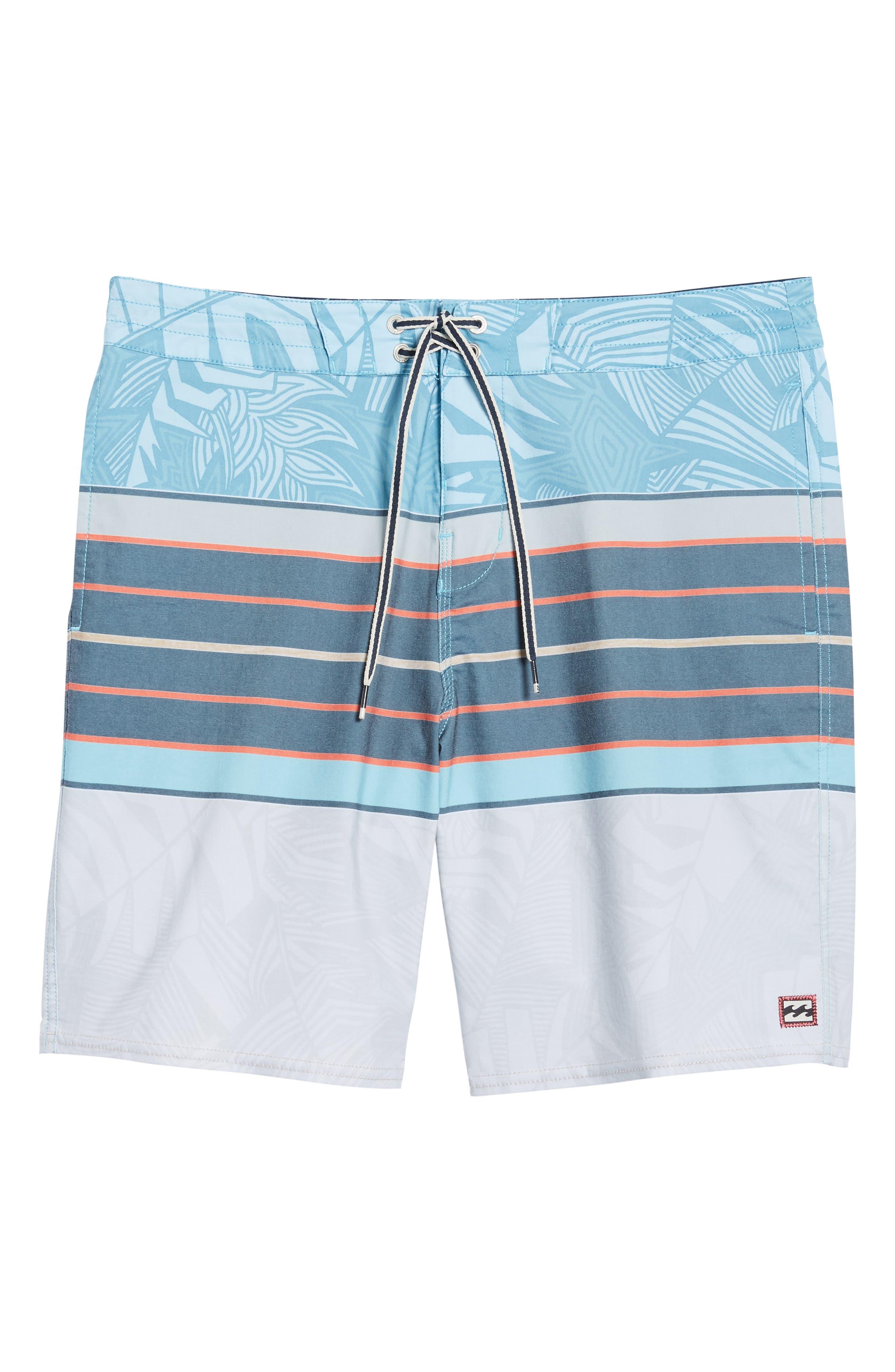 Stringer Lo Tides Board Shorts,                             Alternate thumbnail 6, color,                             Blue