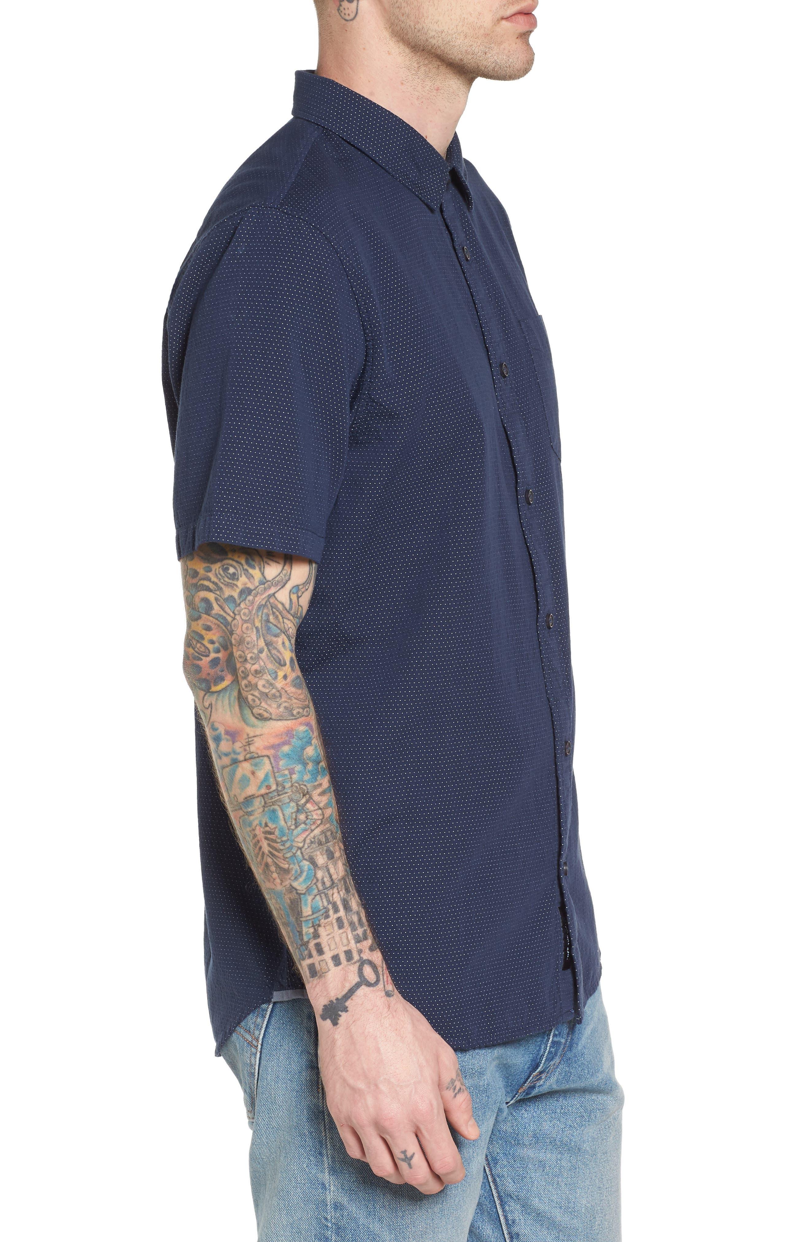Giddings Short Sleeve Shirt,                             Alternate thumbnail 3, color,                             Dress Blues