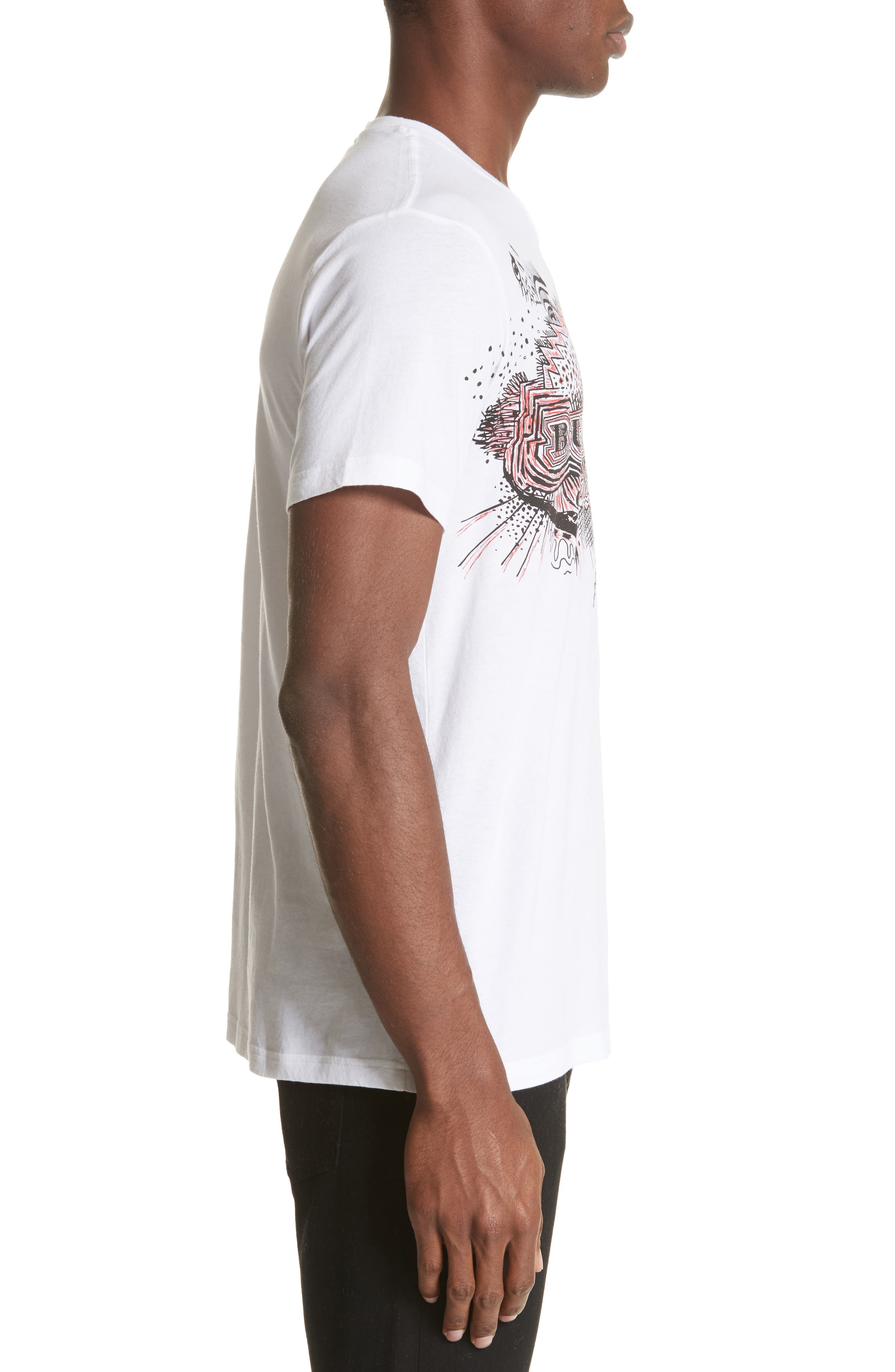 Darnley Standard Fit Tee,                             Alternate thumbnail 3, color,                             White