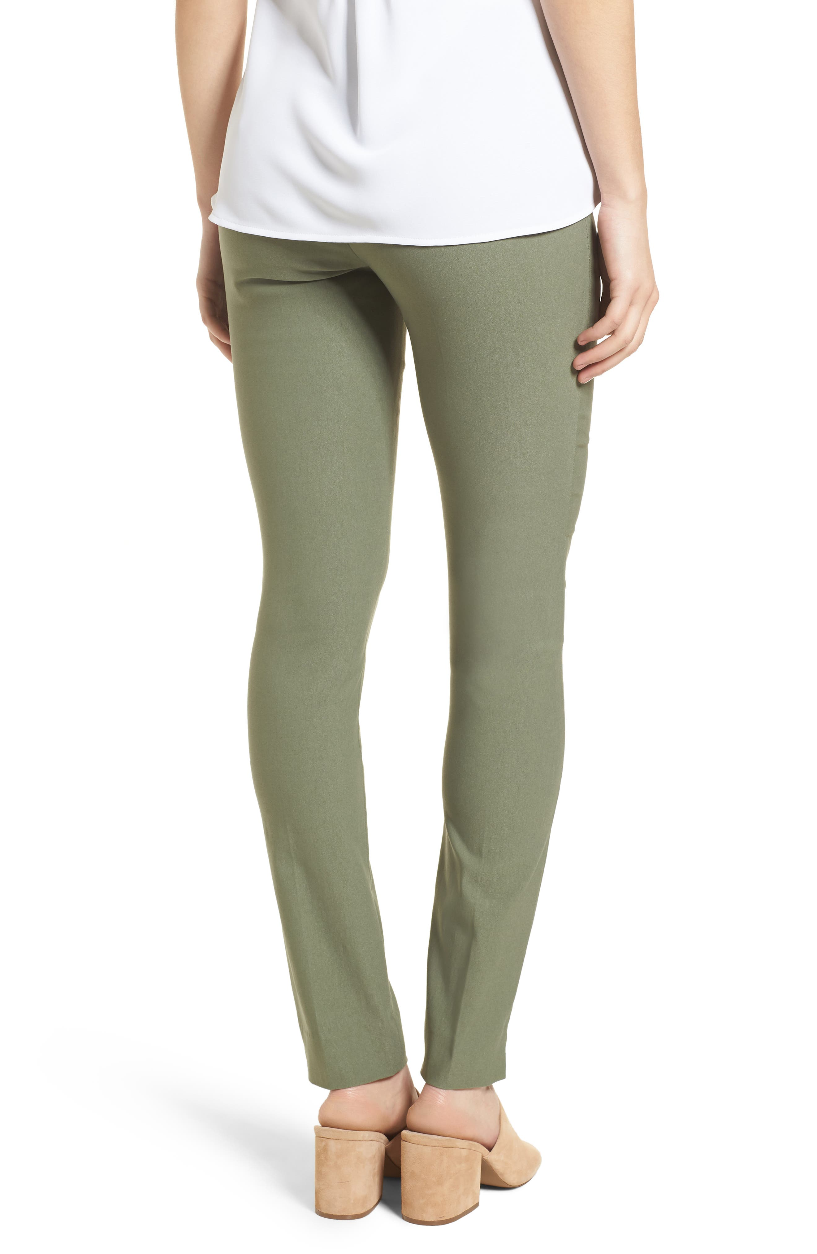 NIC + ZOE Wonderstretch Slim Pants,                             Alternate thumbnail 2, color,                             Spring Moss