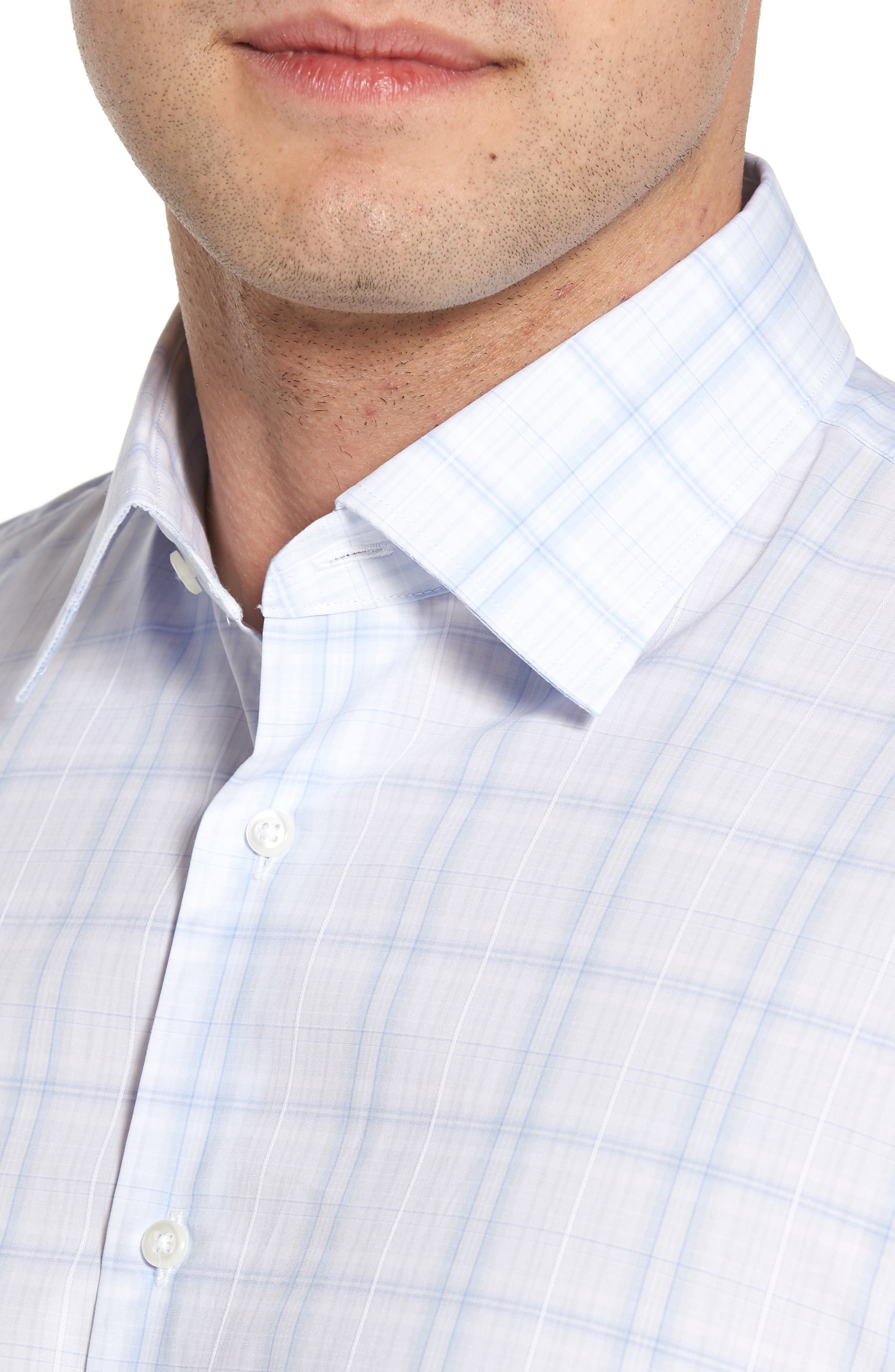 Traditional Fit Check Dress Shirt,                             Alternate thumbnail 2, color,                             Blue Xenon