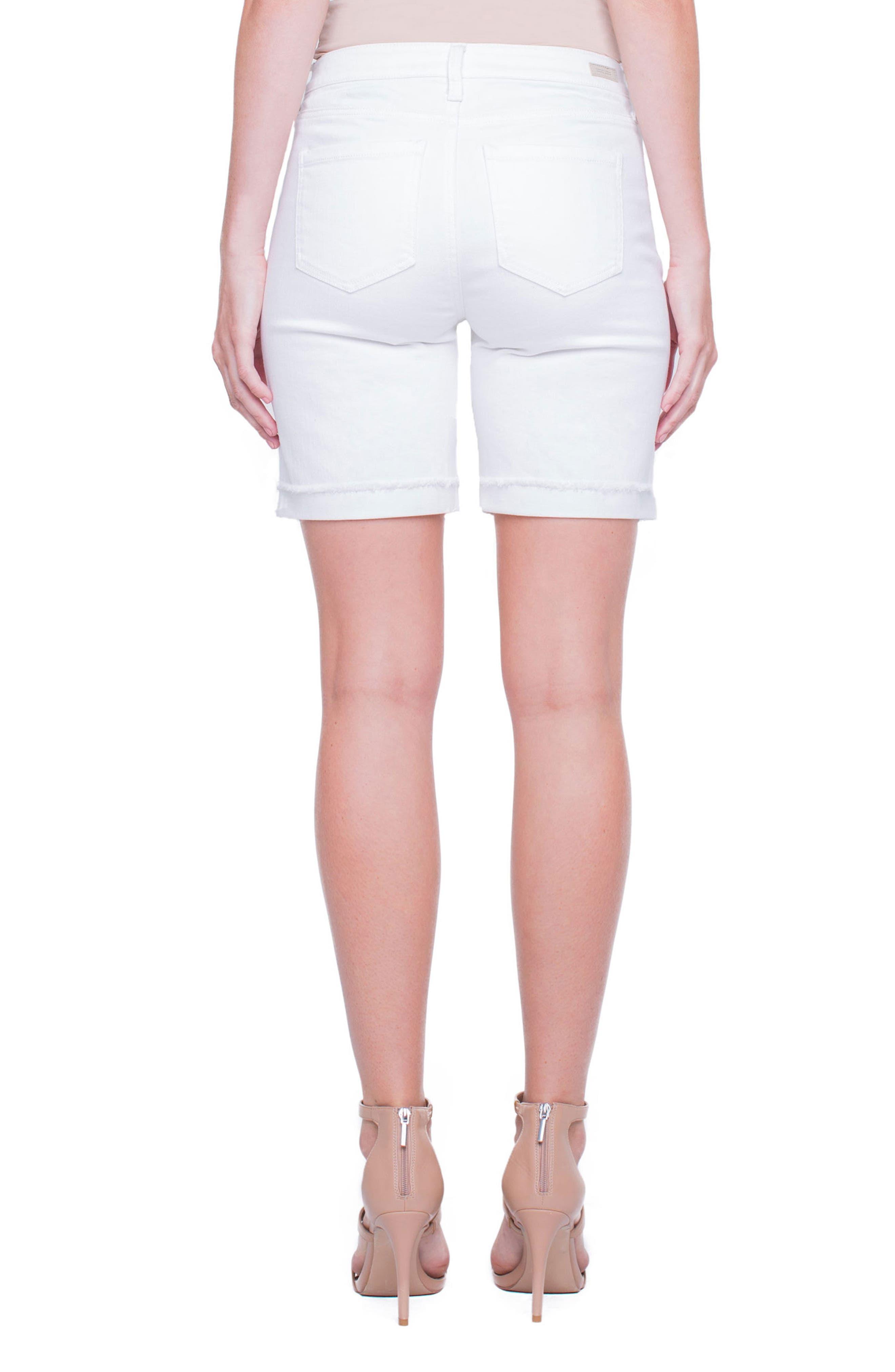 Casey White Denim Shorts,                             Alternate thumbnail 2, color,                             Bright White