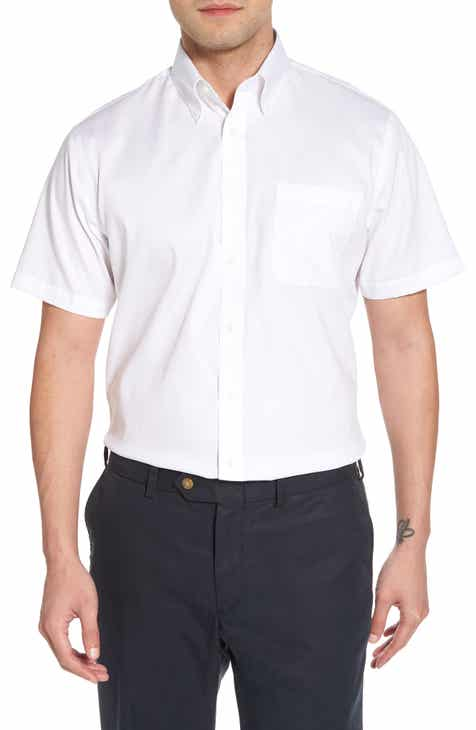 Nordstrom Men S Traditional Fit Non Iron Short Sleeve Dress Shirt