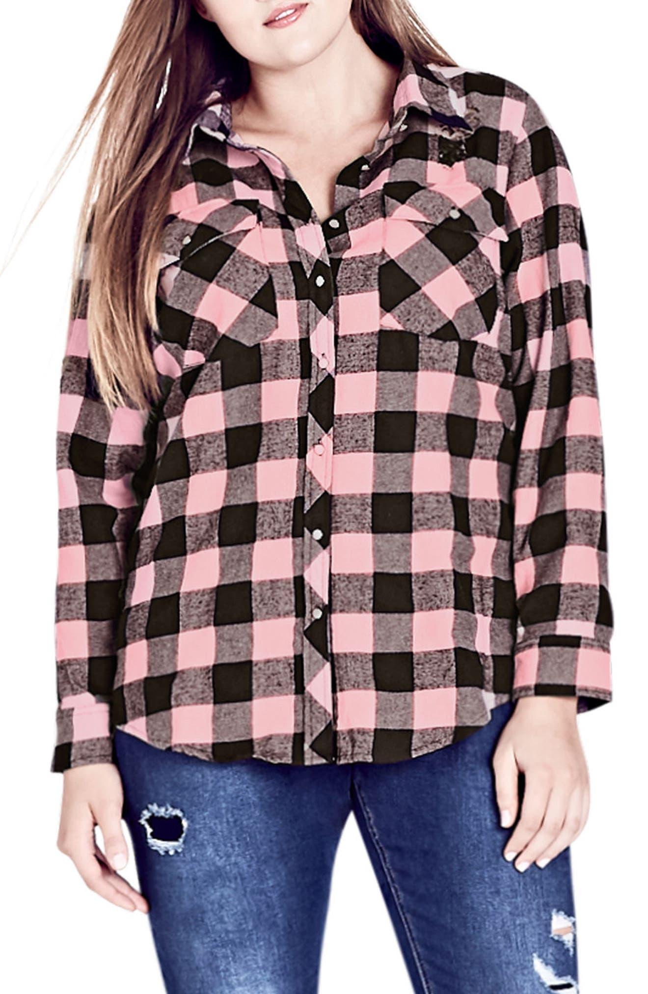 Dusty Duke Cotton Shirt,                             Main thumbnail 1, color,                             Blush Pink
