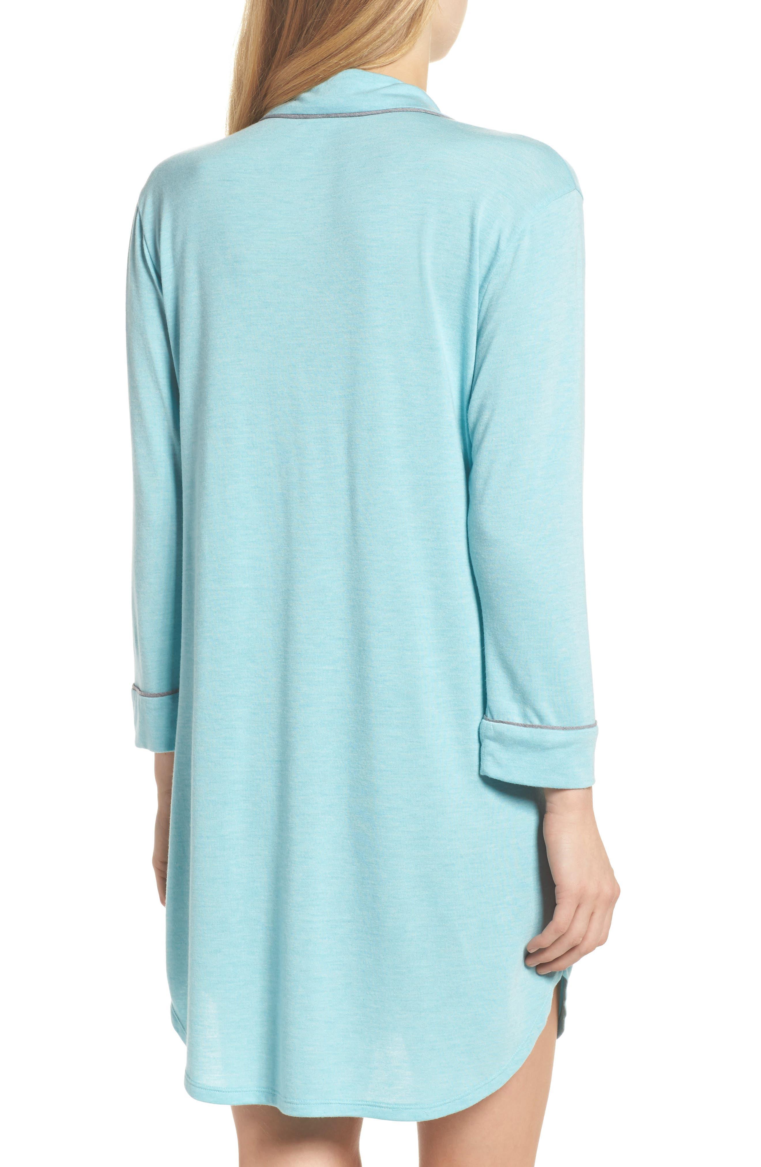 Shangri-La Sleep Shirt,                             Alternate thumbnail 2, color,                             Turquoise
