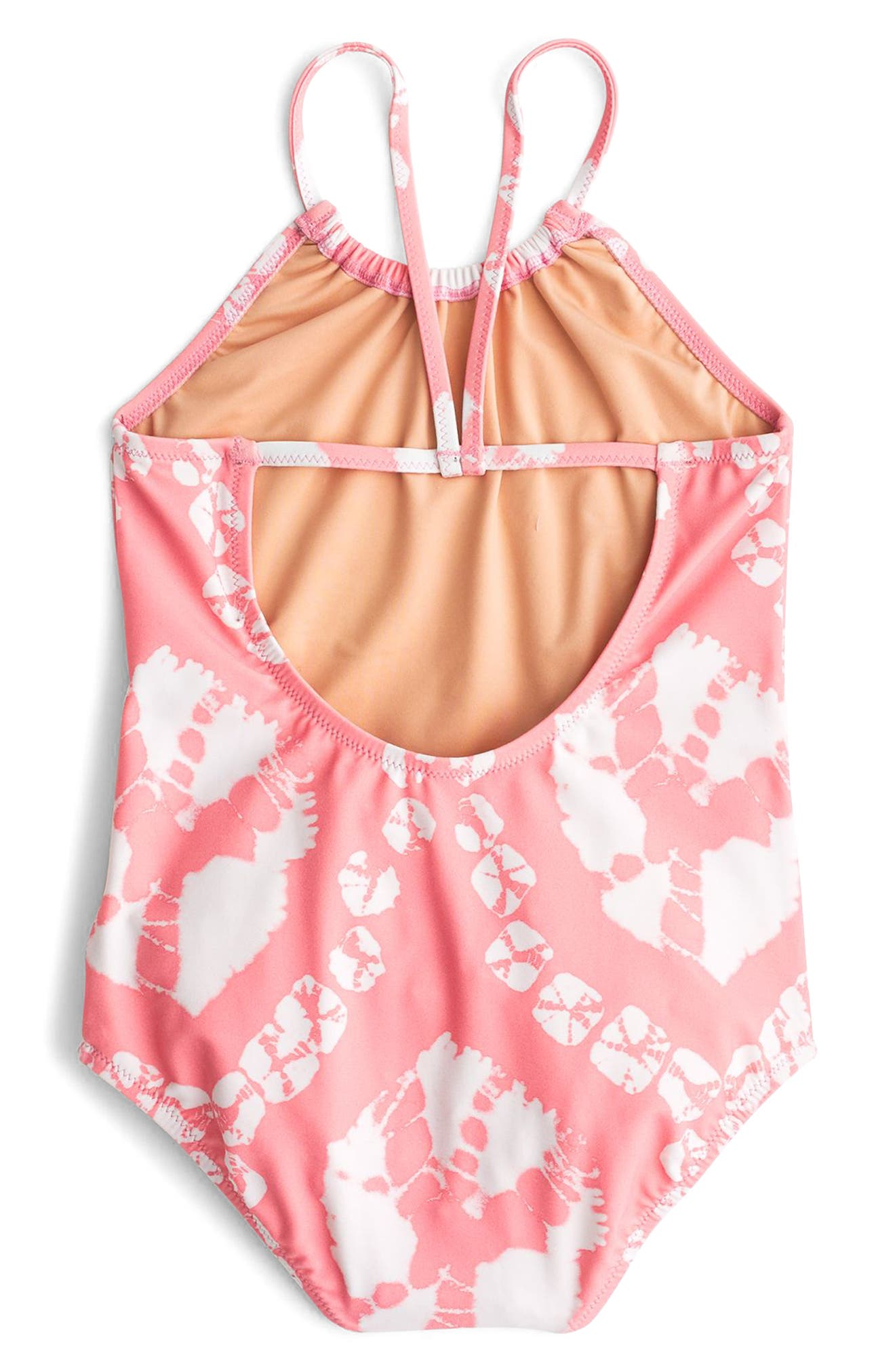 Tie Dye One-Piece Swimsuit,                             Alternate thumbnail 2, color,                             Pink Orange Multi Ka3139
