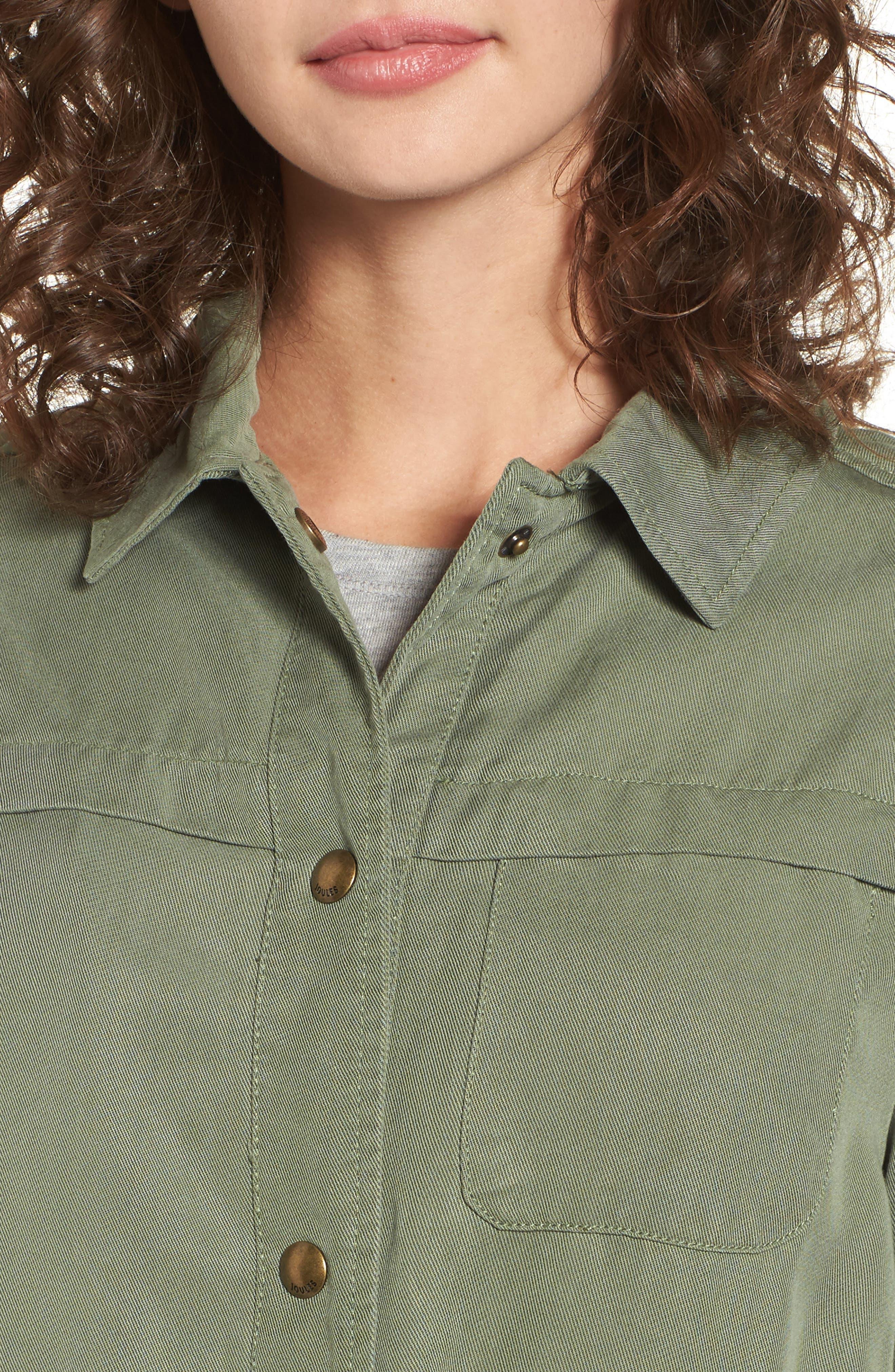 Safari Jacket,                             Alternate thumbnail 4, color,                             Soft Khaki