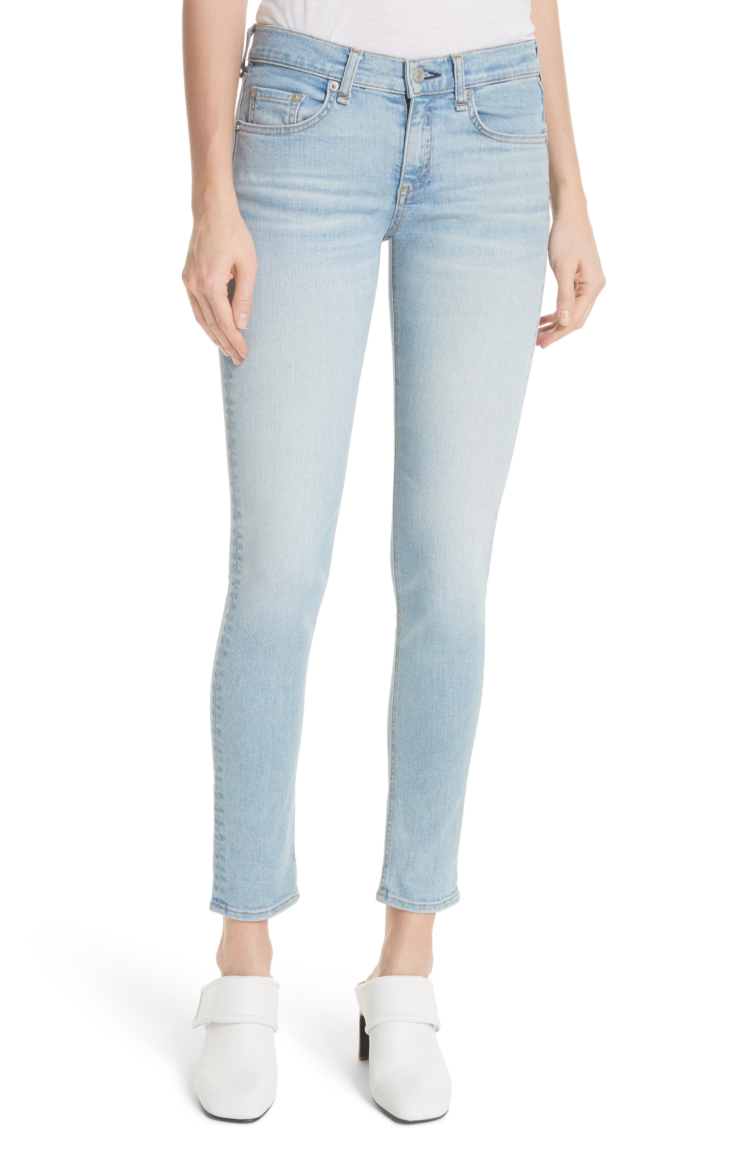 Ankle Skinny Jeans,                         Main,                         color, Nelly