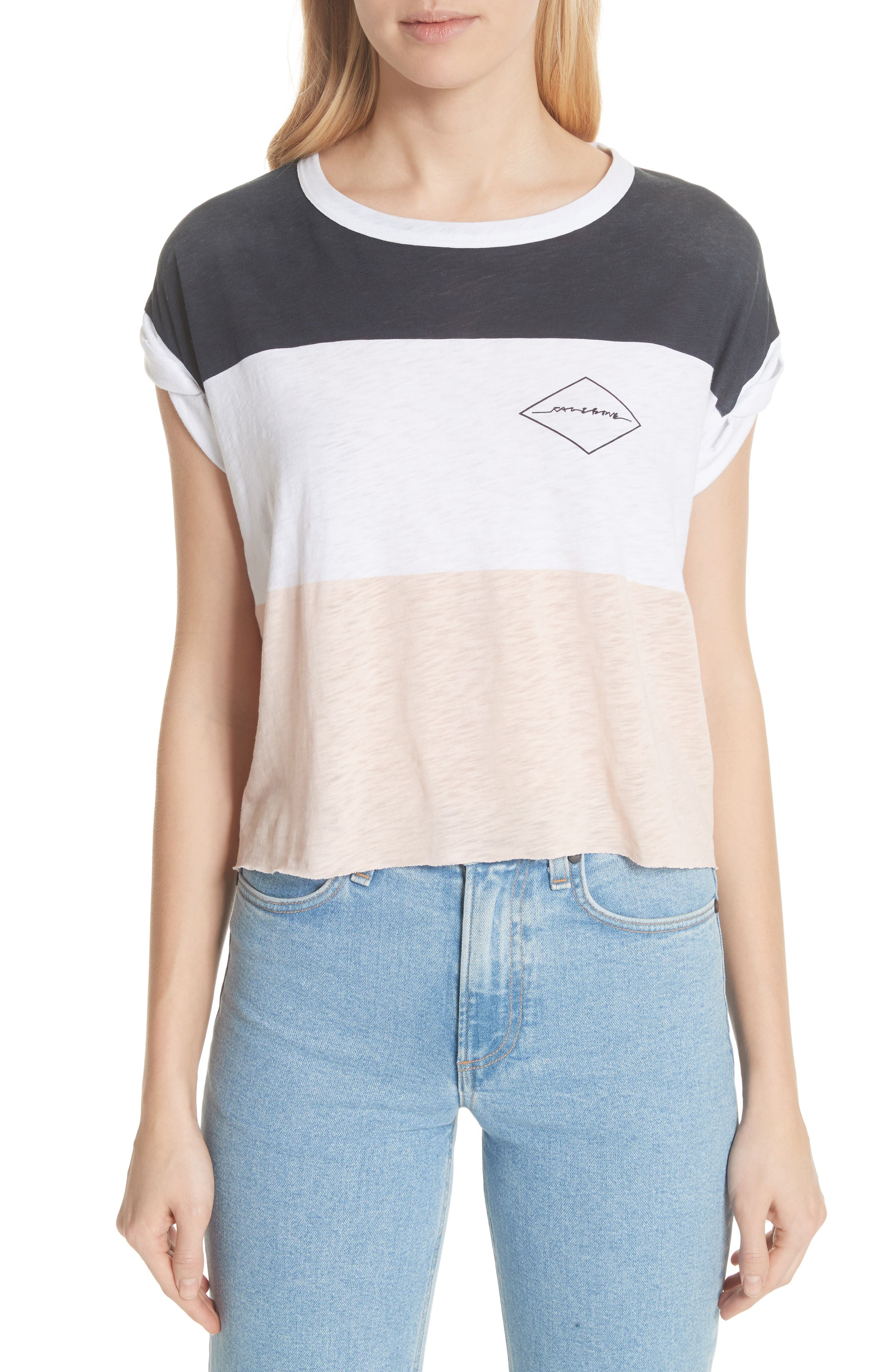 Percy Colorblock Muscle Tee,                         Main,                         color, Navy Multi
