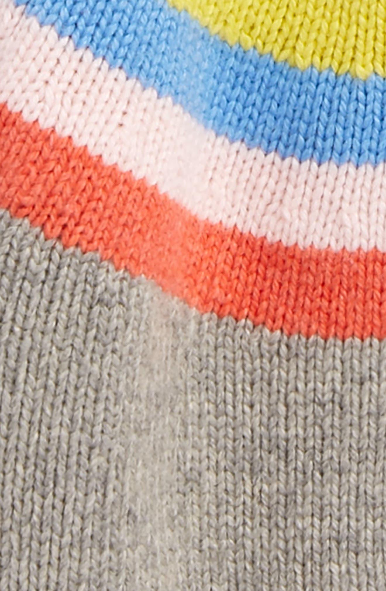 Rainbow Stripe Cardigan,                             Alternate thumbnail 2, color,                             Grey Marl