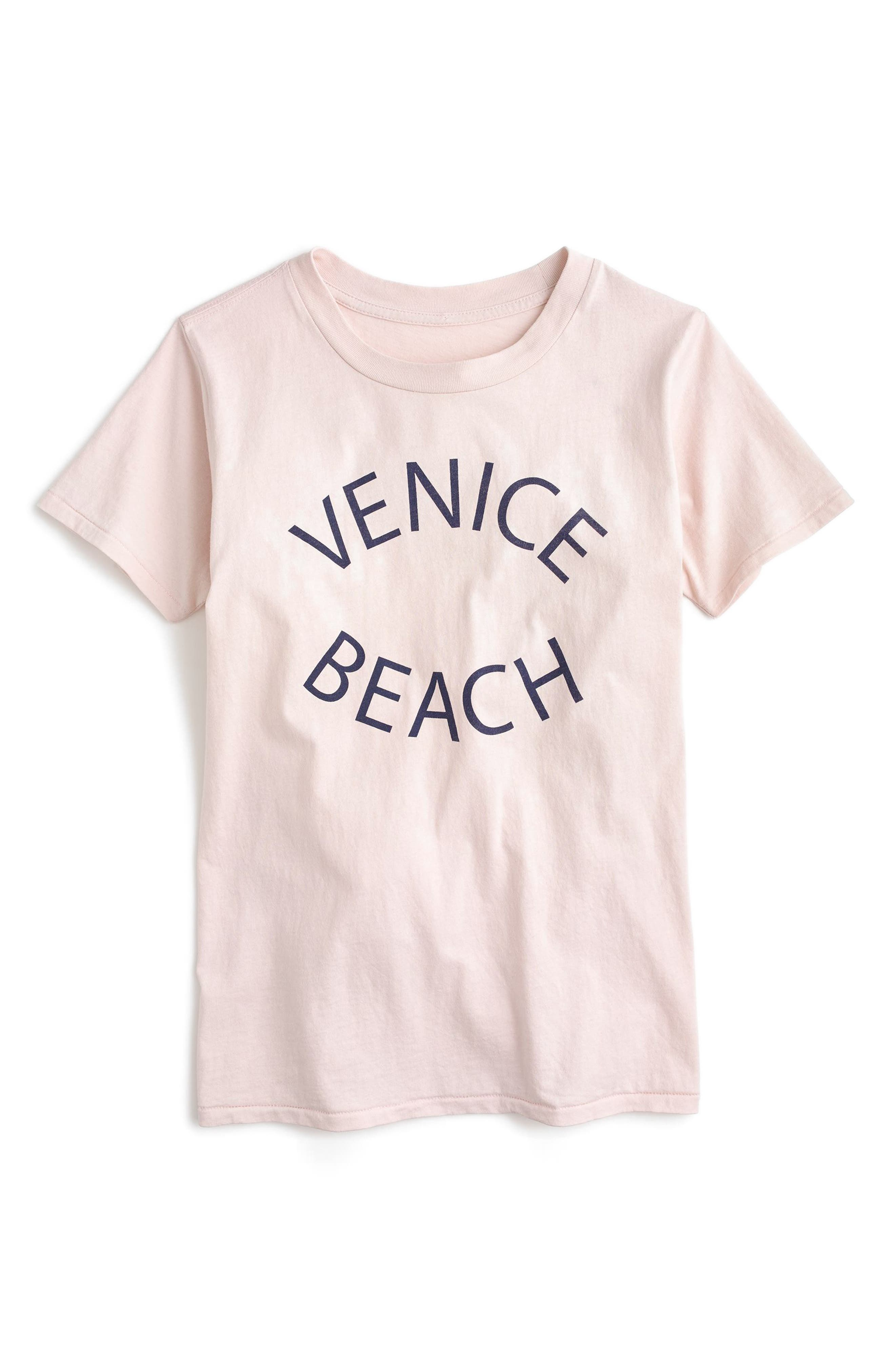 J.Crew Venice Beach Graphic Tee,                         Main,                         color, Picturesque Pink