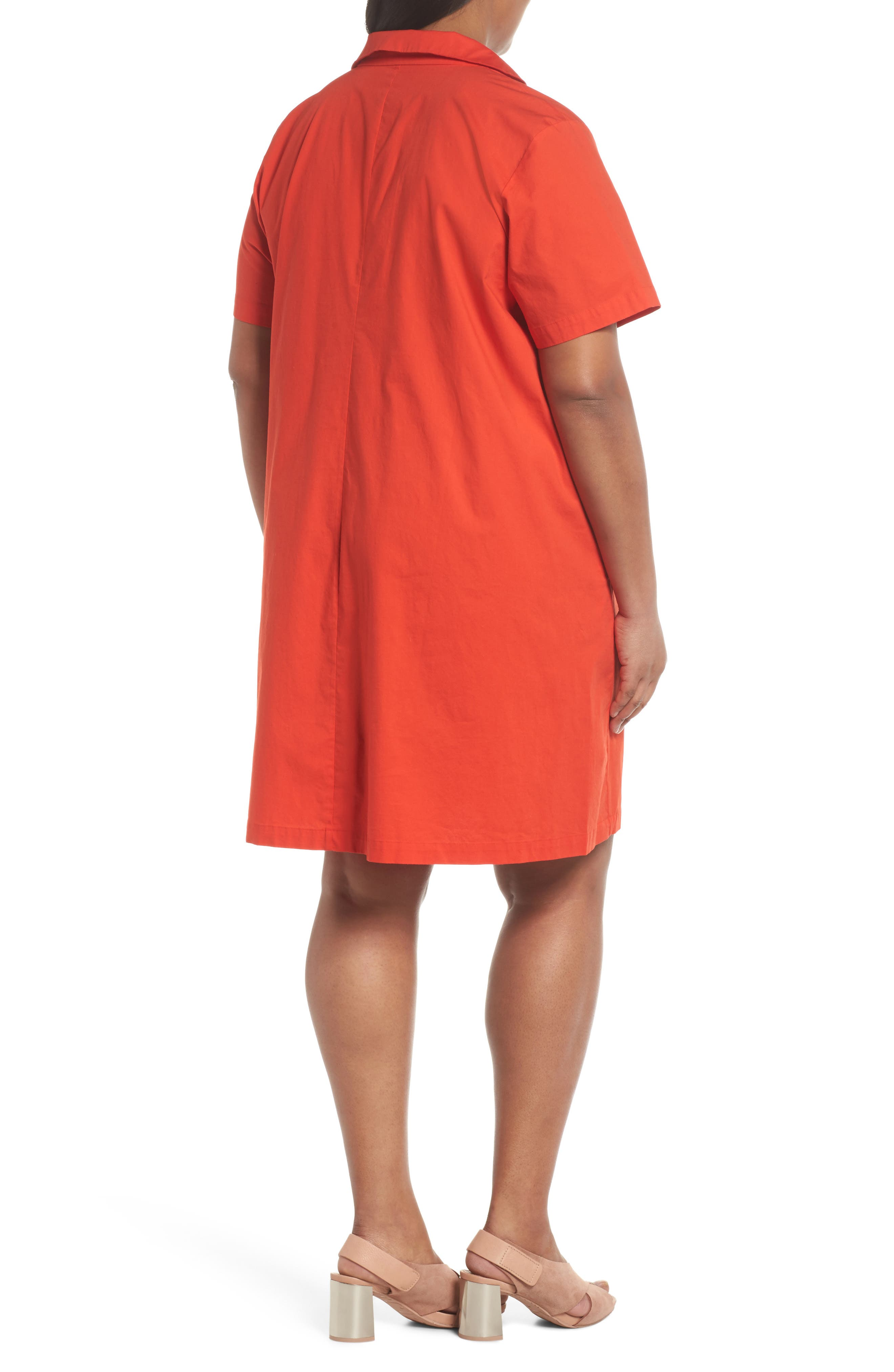 Alternate Image 2  - Eileen Fisher Collared Shift Dress (Plus Size)