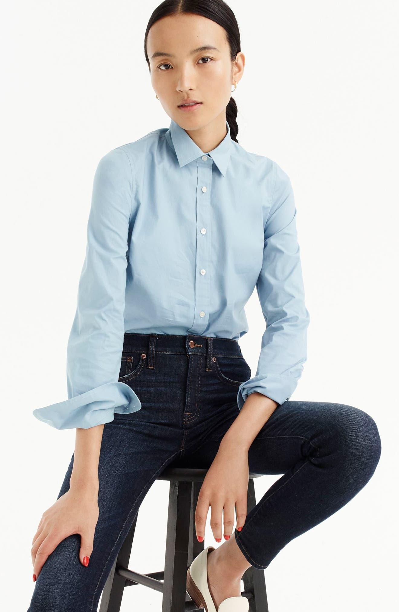 Perfect Shirt,                             Alternate thumbnail 2, color,                             Misty Blue